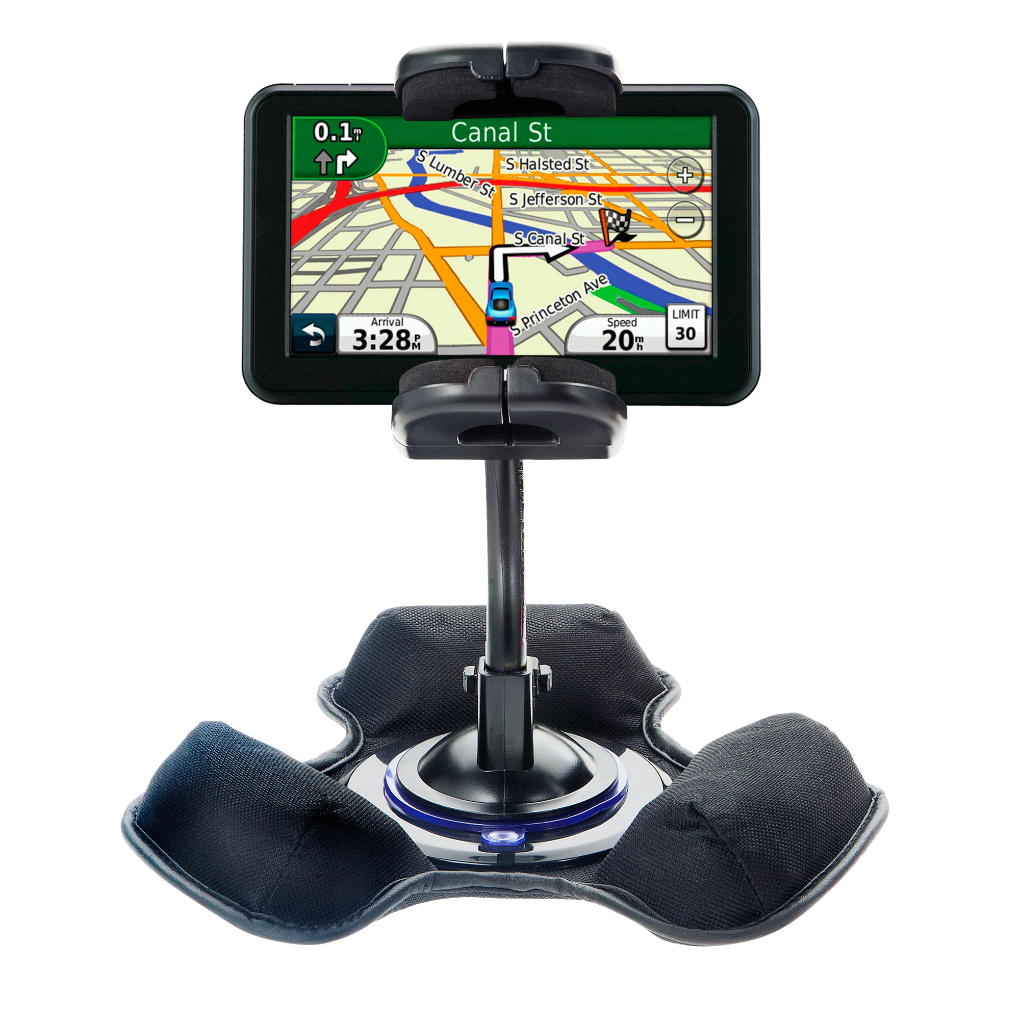 Dash and Windshield Holder compatible with the Garmin Nuvi 50 50LM