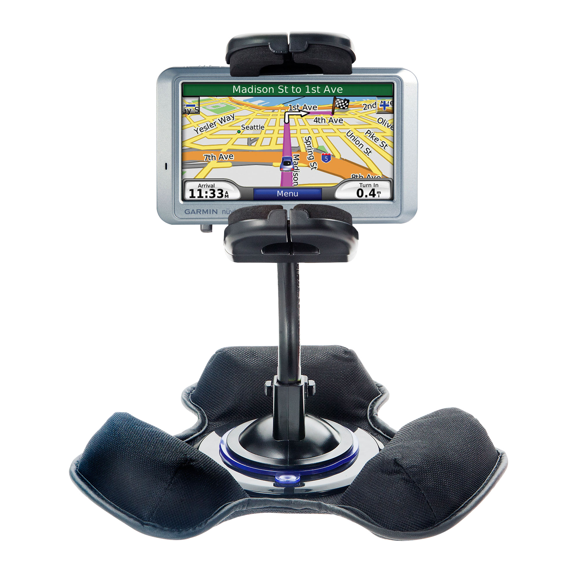 Dash and Windshield Holder compatible with the Garmin Nuvi 750
