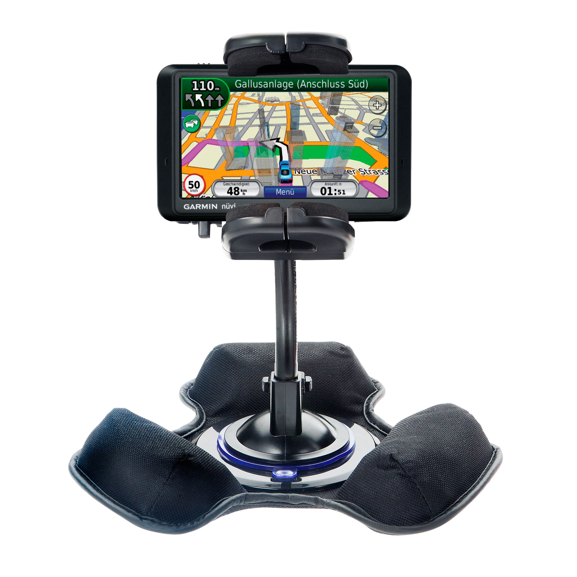 Dash and Windshield Holder compatible with the Garmin Nuvi 765TFM