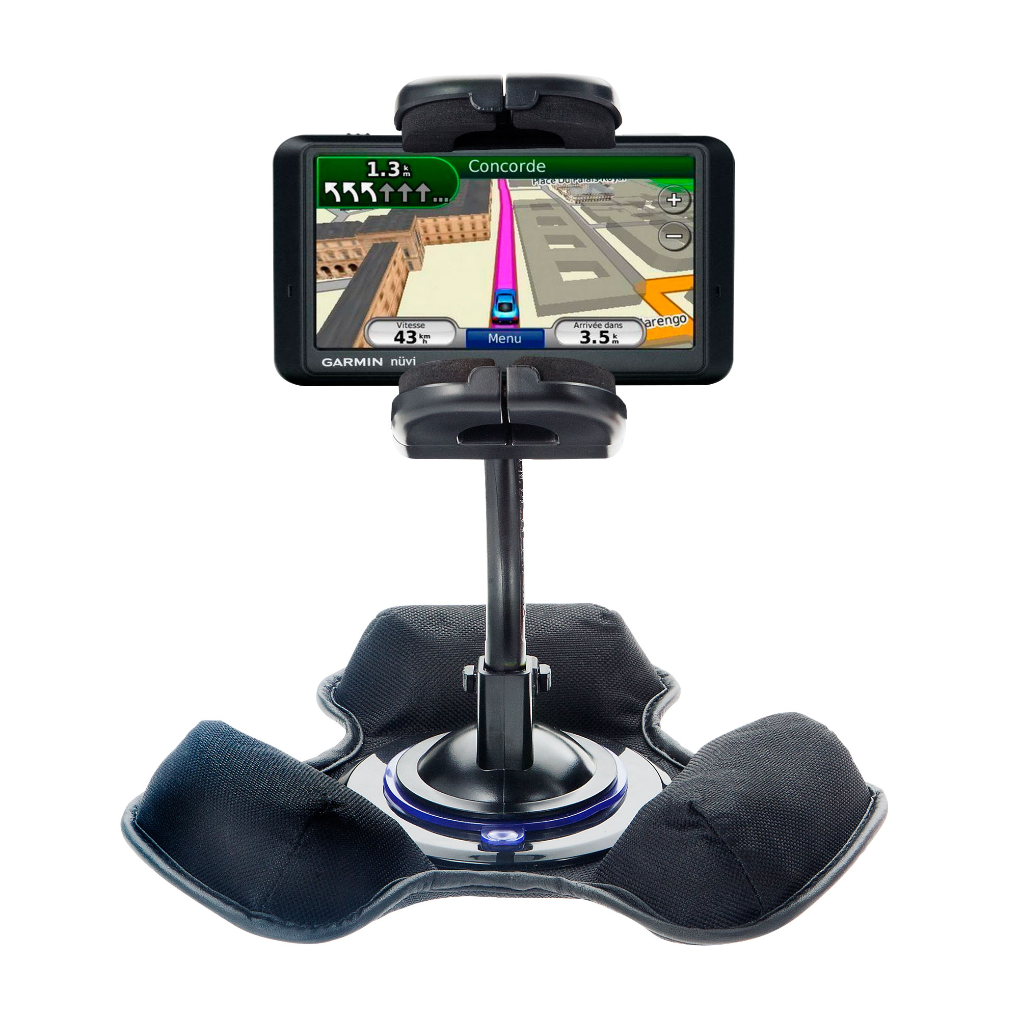 Dash and Windshield Holder compatible with the Garmin Nuvi 775TFM