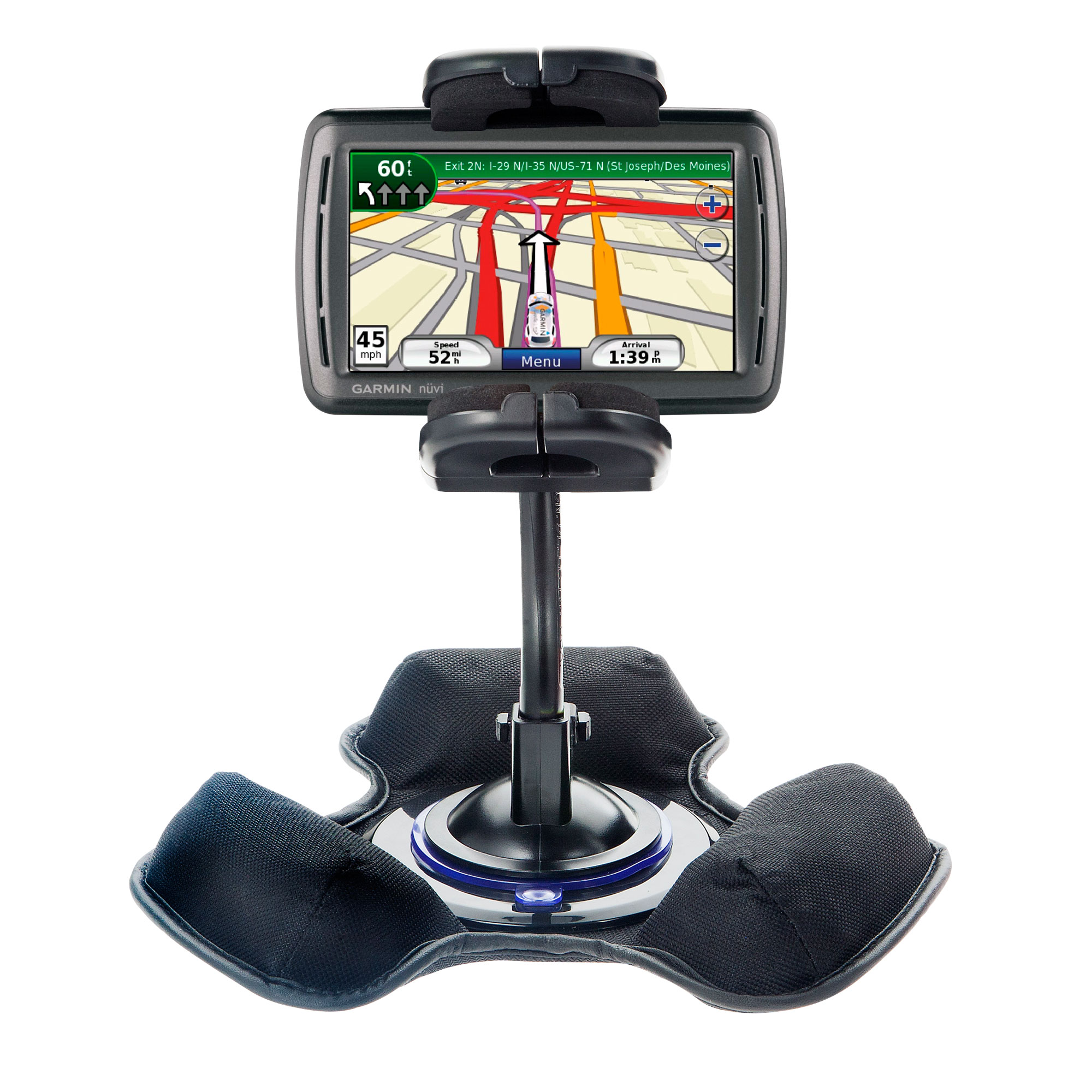 Dash and Windshield Holder compatible with the Garmin Nuvi 860 865Tpro