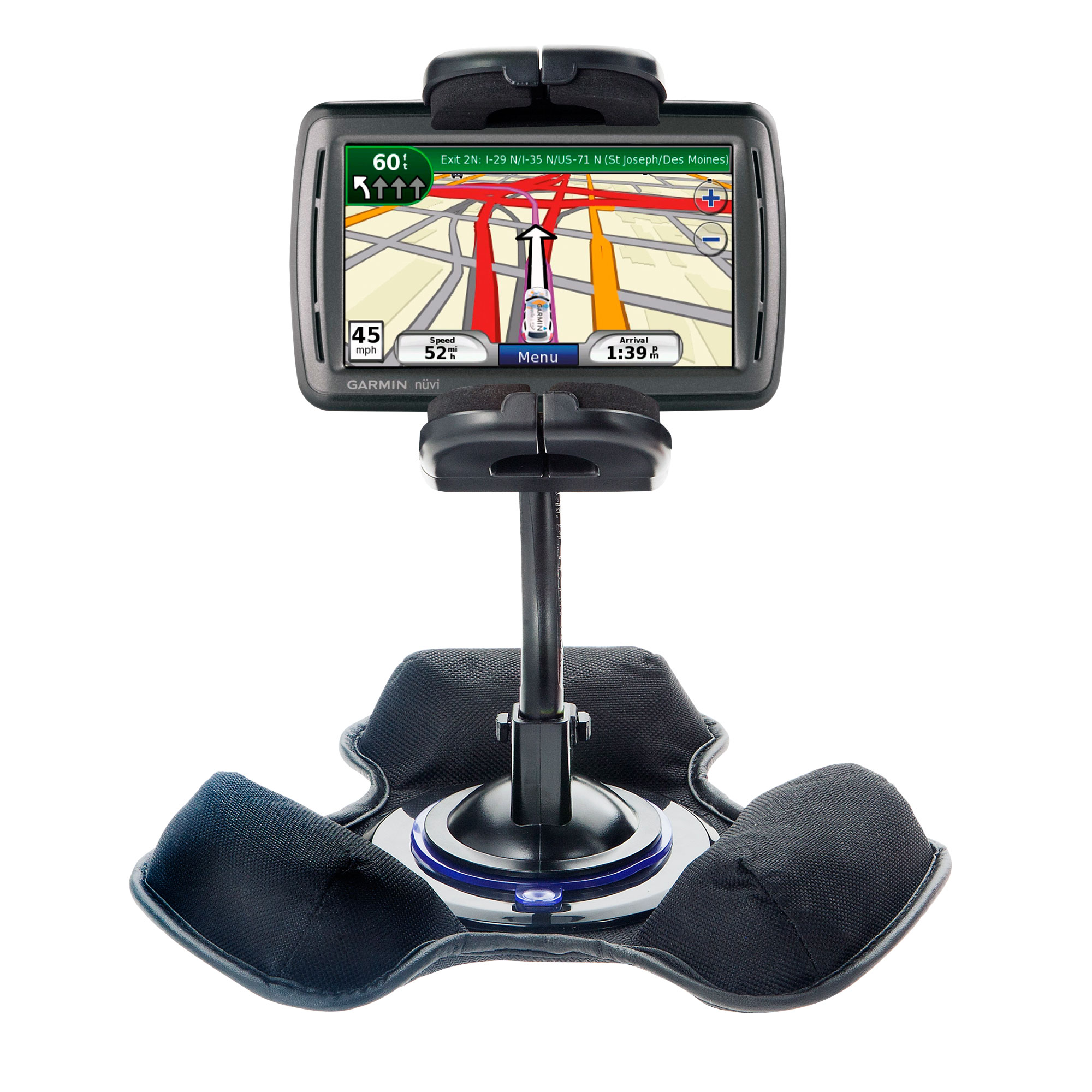Dash and Windshield Holder compatible with the Garmin Nuvi 860