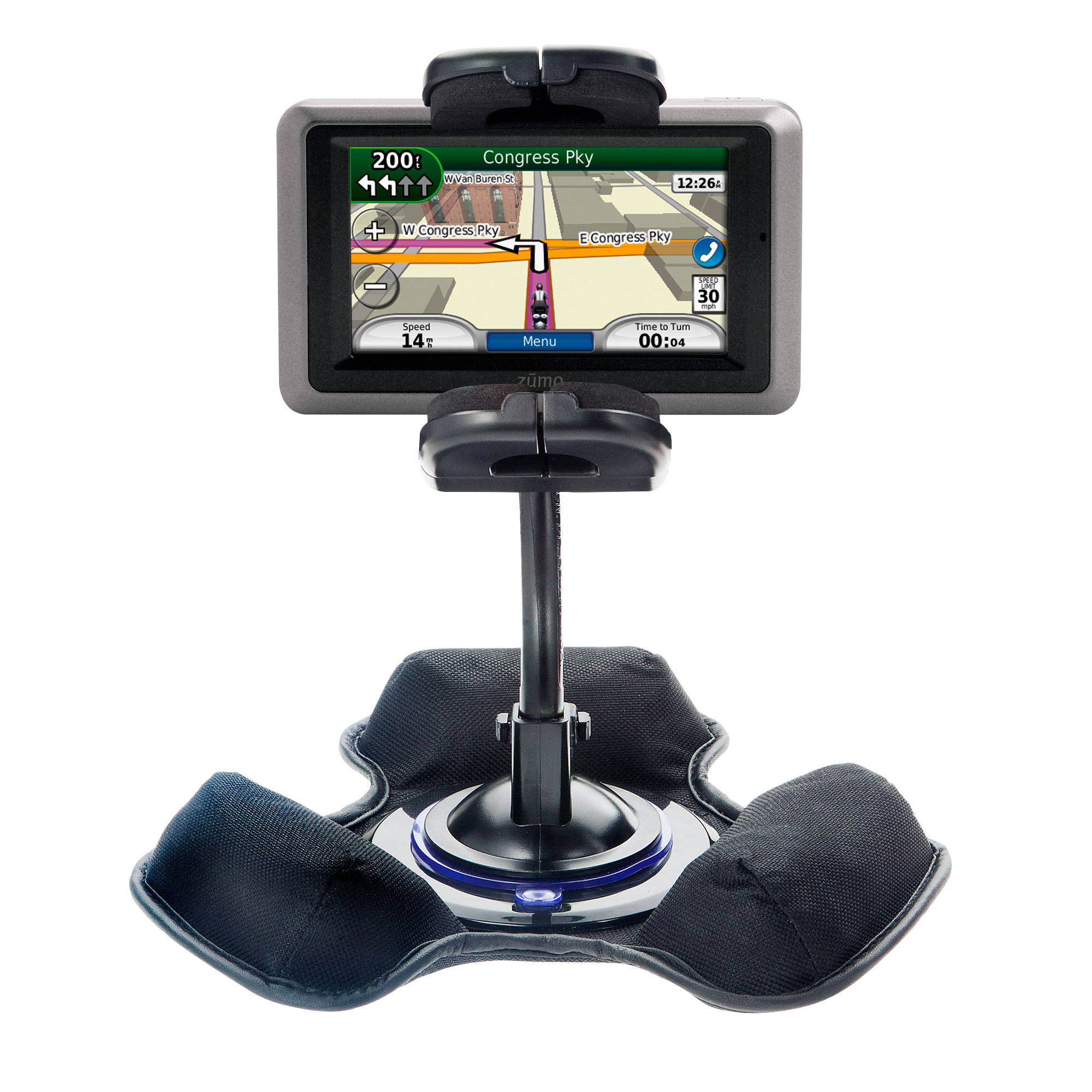 Dash and Windshield Holder compatible with the Garmin Zumo 665