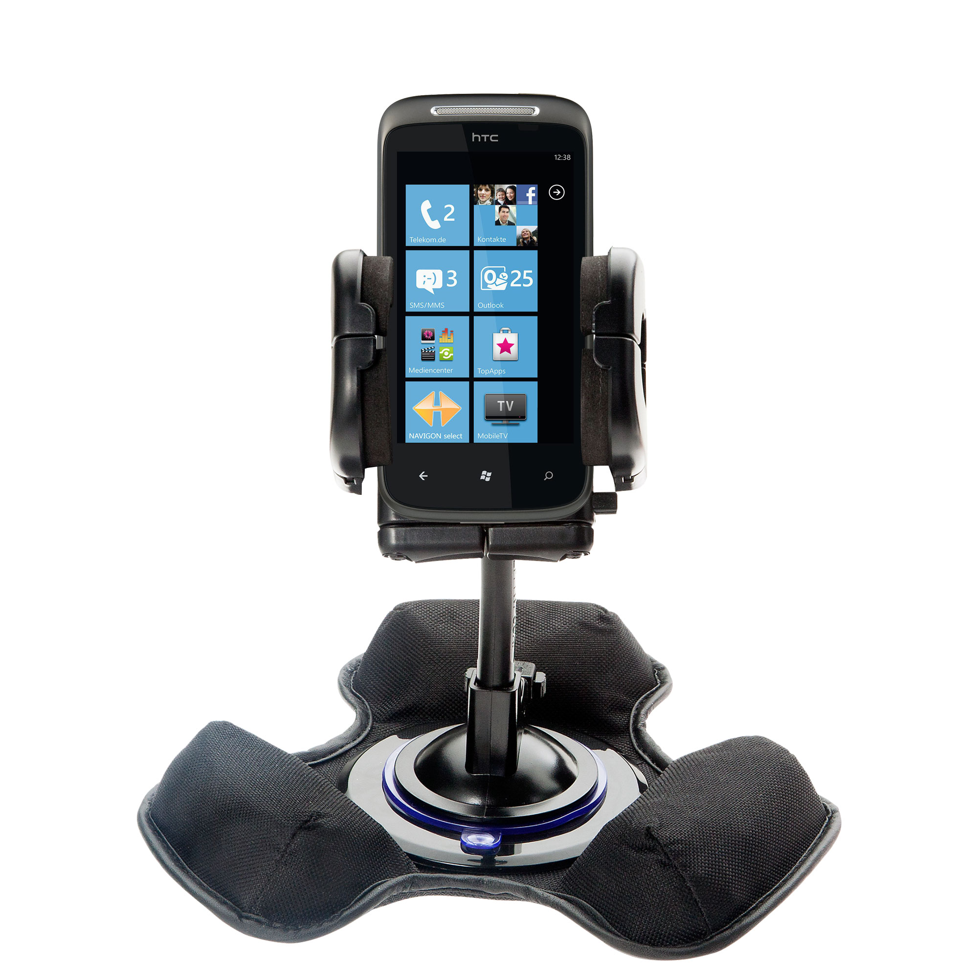 Dash and Windshield Holder compatible with the HTC 7 Mozart