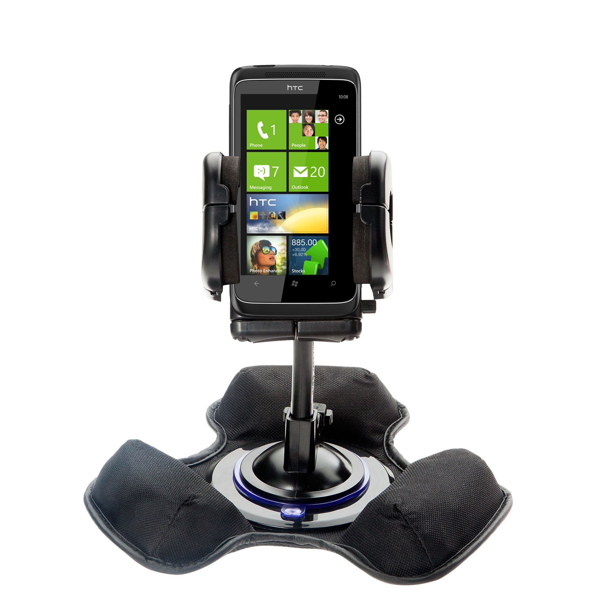 Dash and Windshield Holder compatible with the HTC 7 Trophy