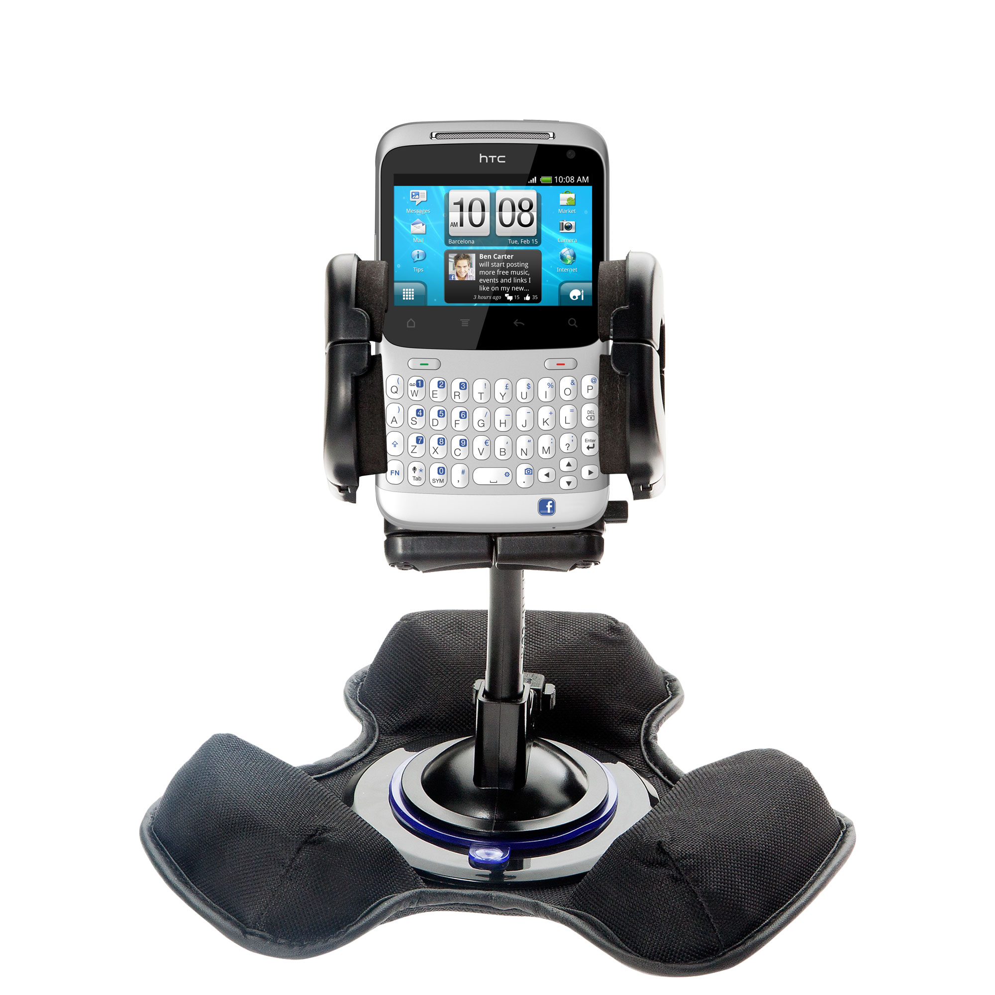 Dash and Windshield Holder compatible with the HTC ChaCha