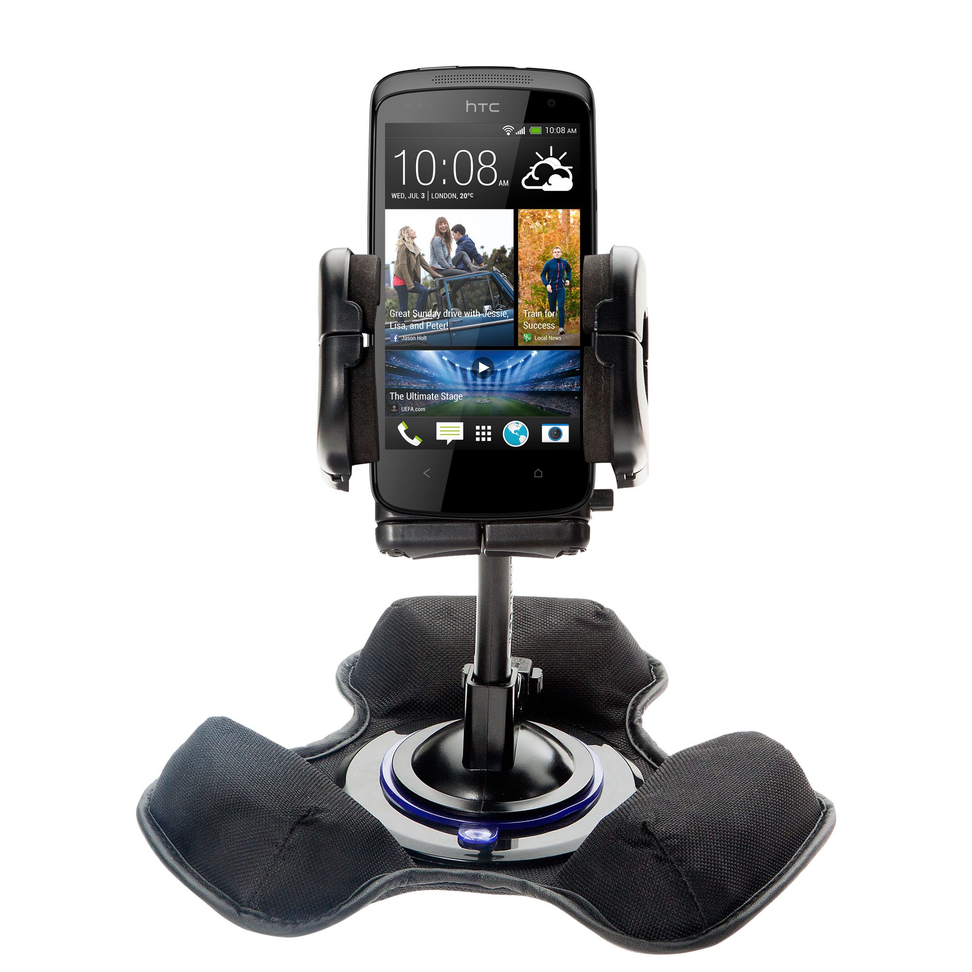 Dash and Windshield Holder compatible with the HTC Desire 500