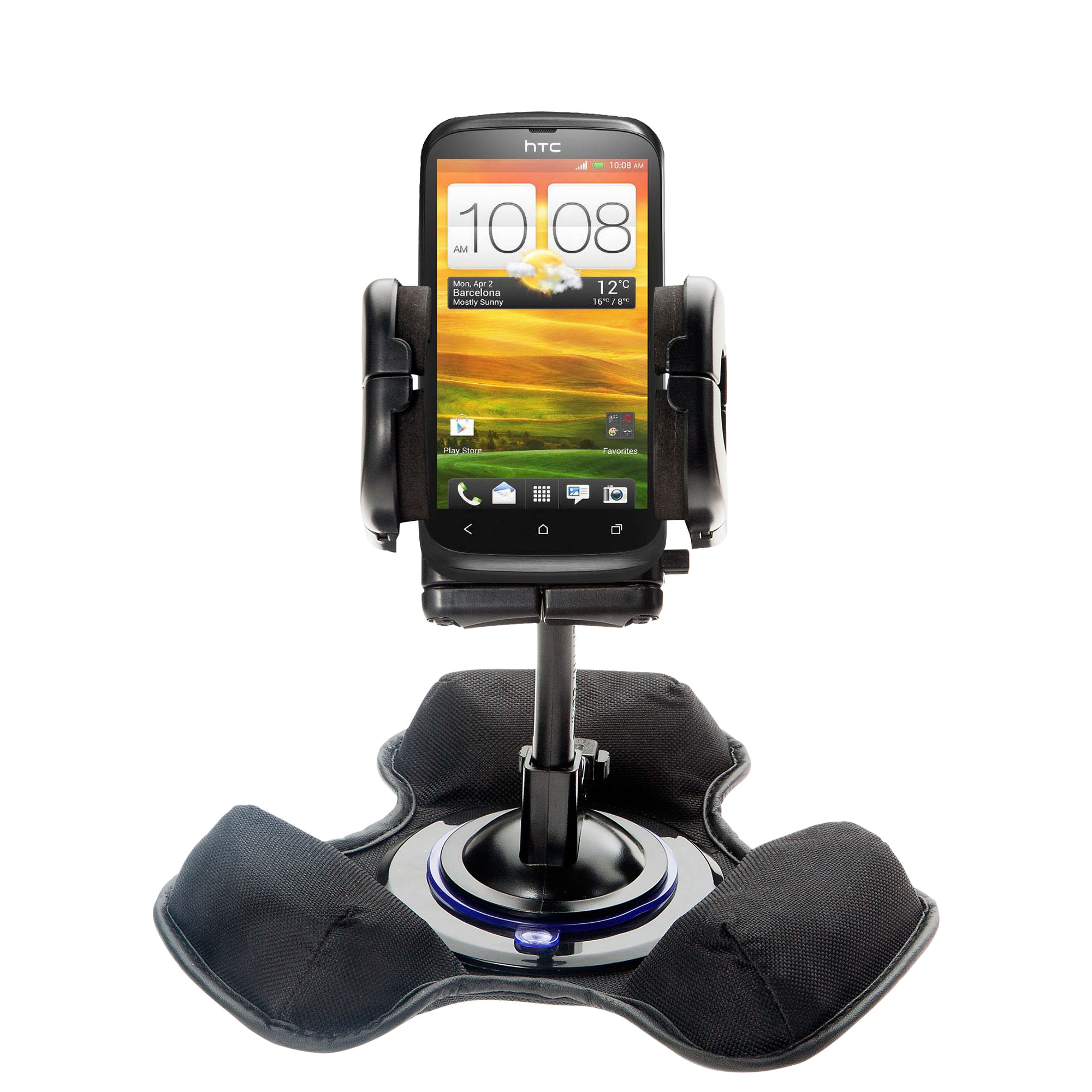 Dash and Windshield Holder compatible with the HTC Desire V