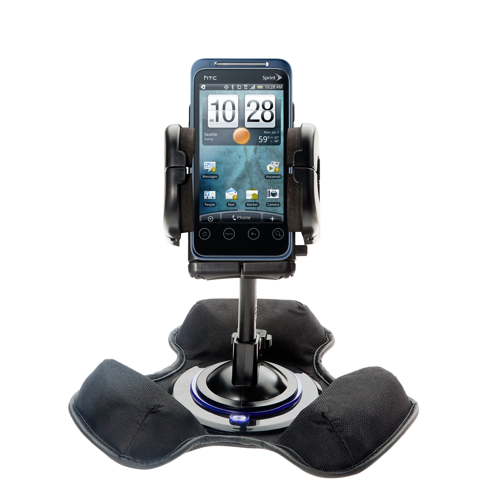 Dash and Windshield Holder compatible with the HTC Evo Shift 4G