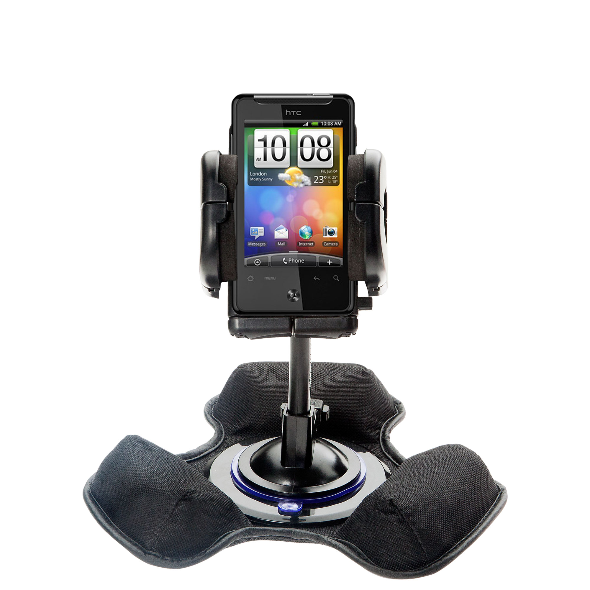 Dash and Windshield Holder compatible with the HTC Gratia
