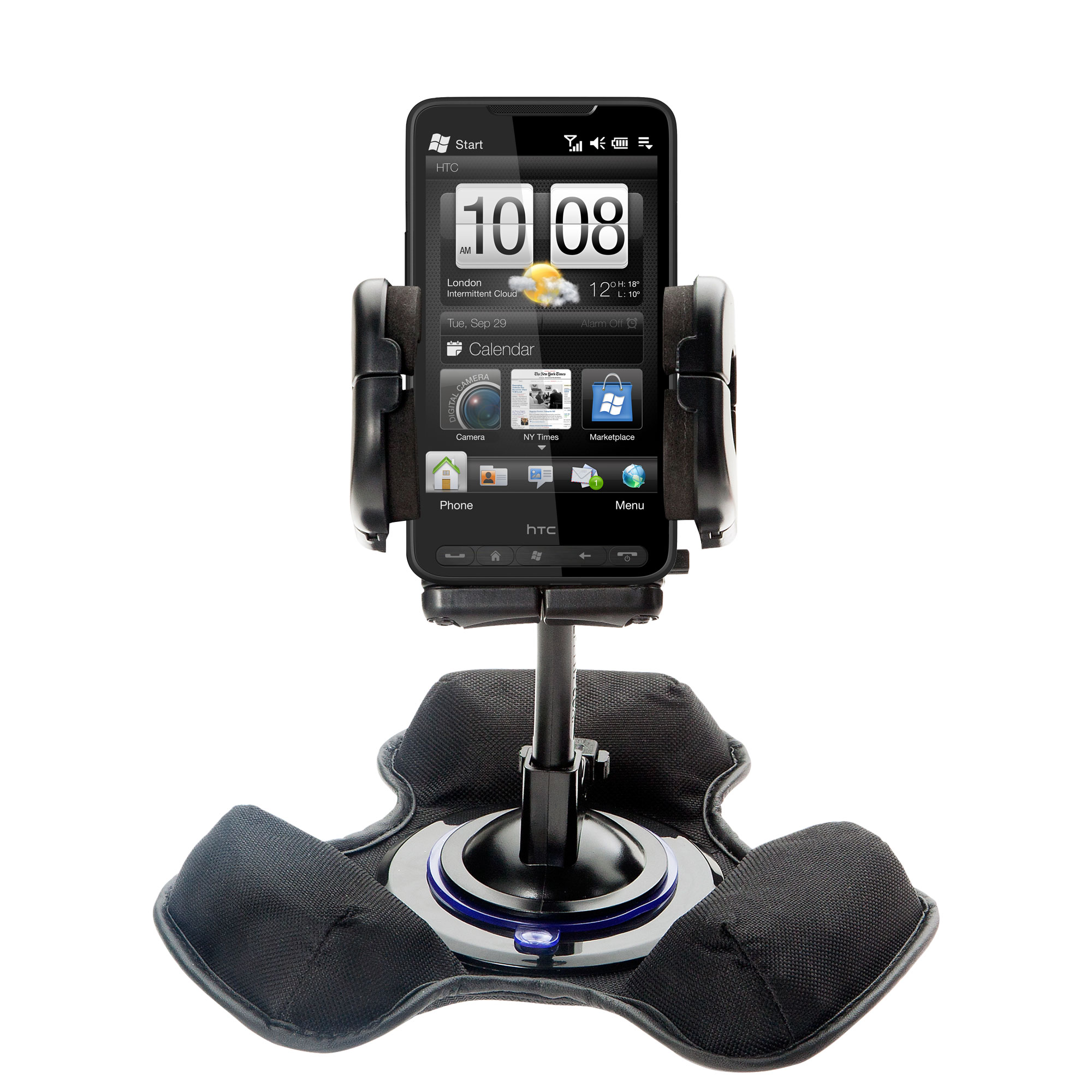 Dash and Windshield Holder compatible with the HTC HD3