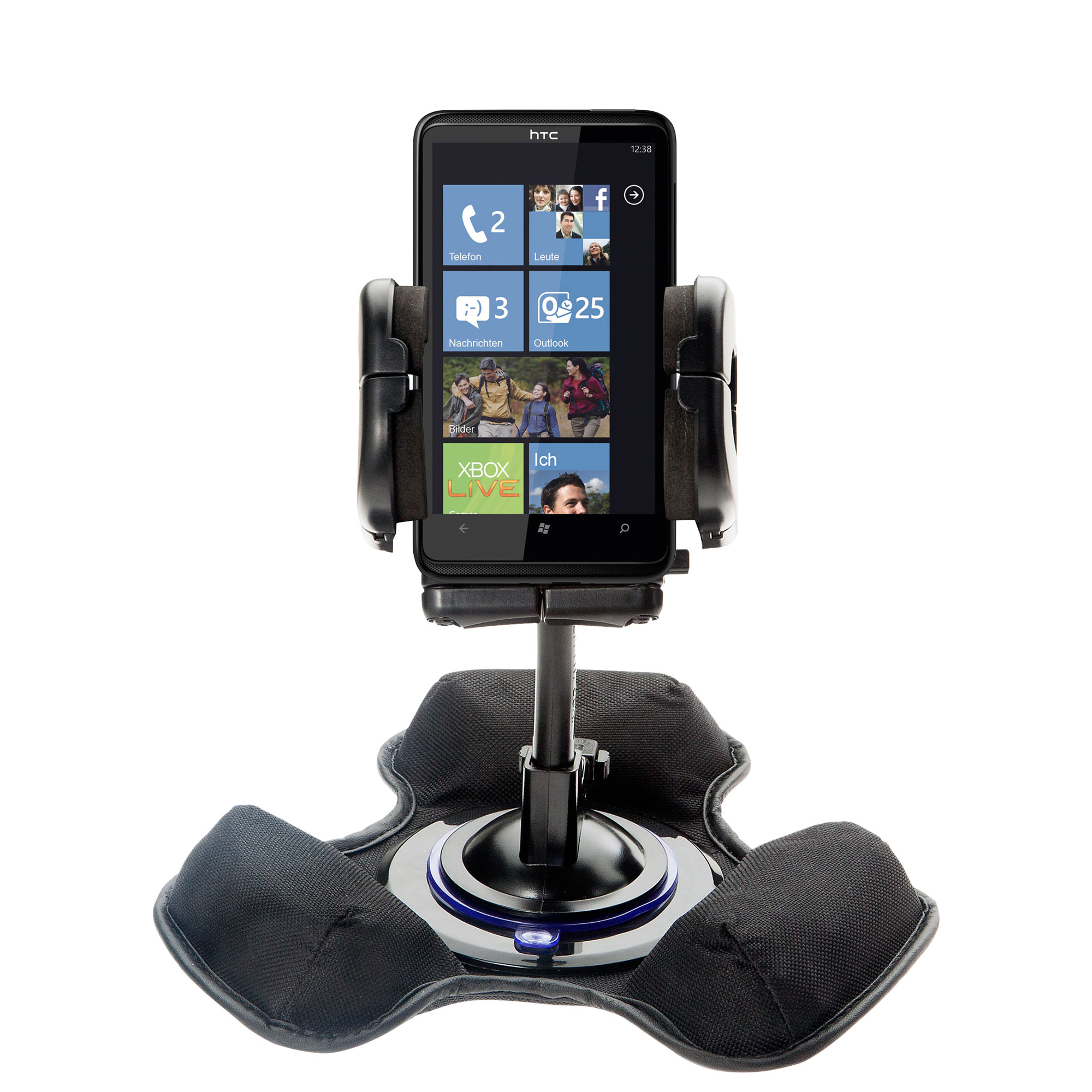 Dash and Windshield Holder compatible with the HTC HD7S