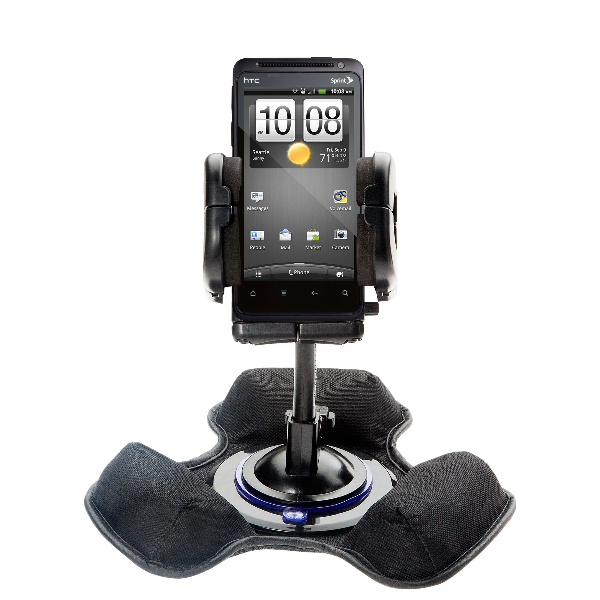 Dash and Windshield Holder compatible with the HTC Hero 4G