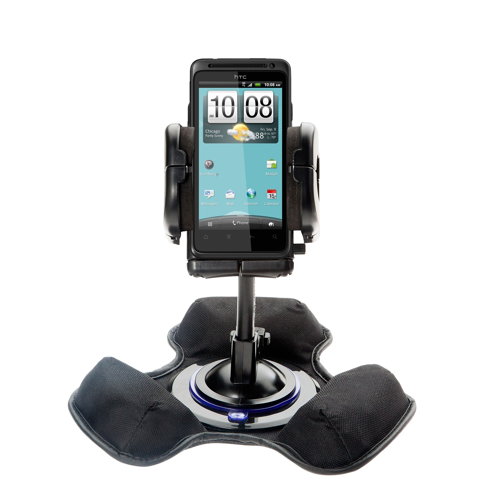 Dash and Windshield Holder compatible with the HTC Hero S