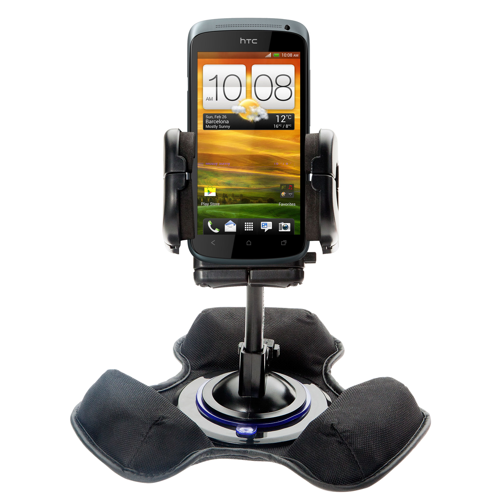 Dash and Windshield Holder compatible with the HTC One S / Ville