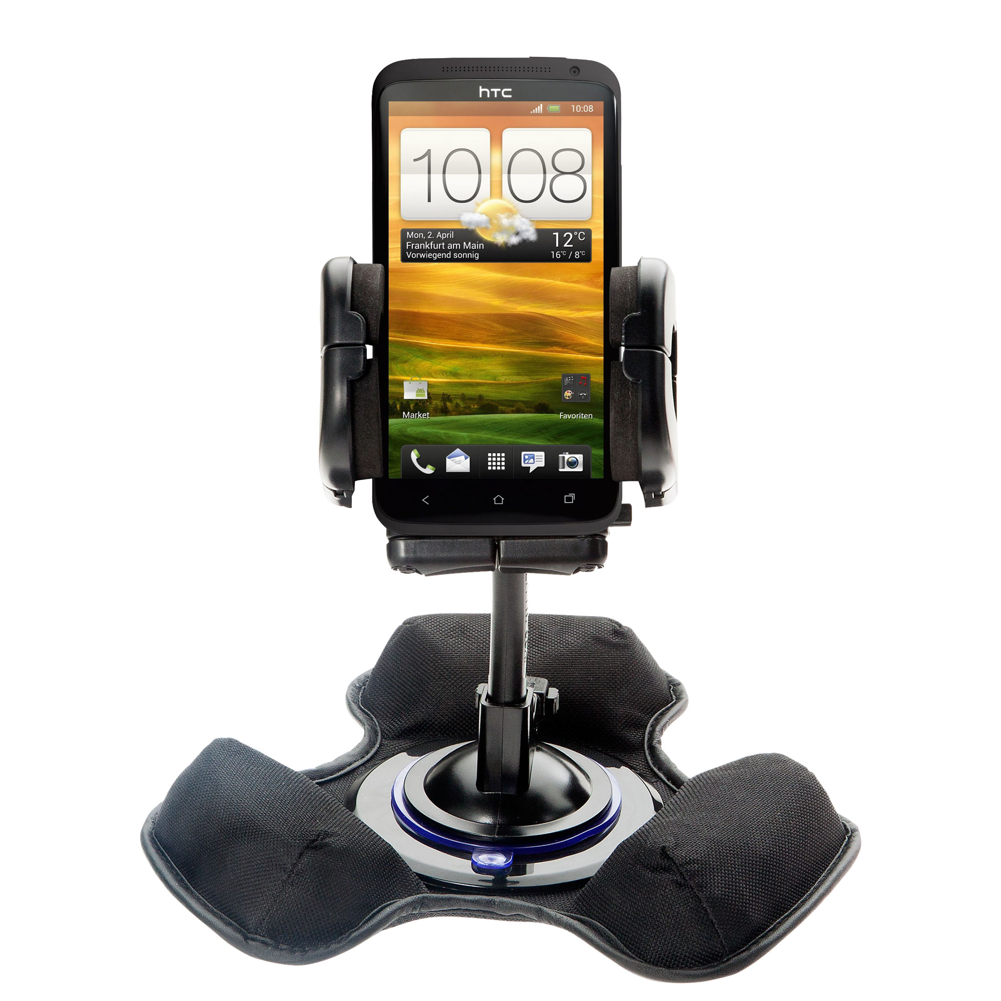 Dash and Windshield Holder compatible with the HTC One X