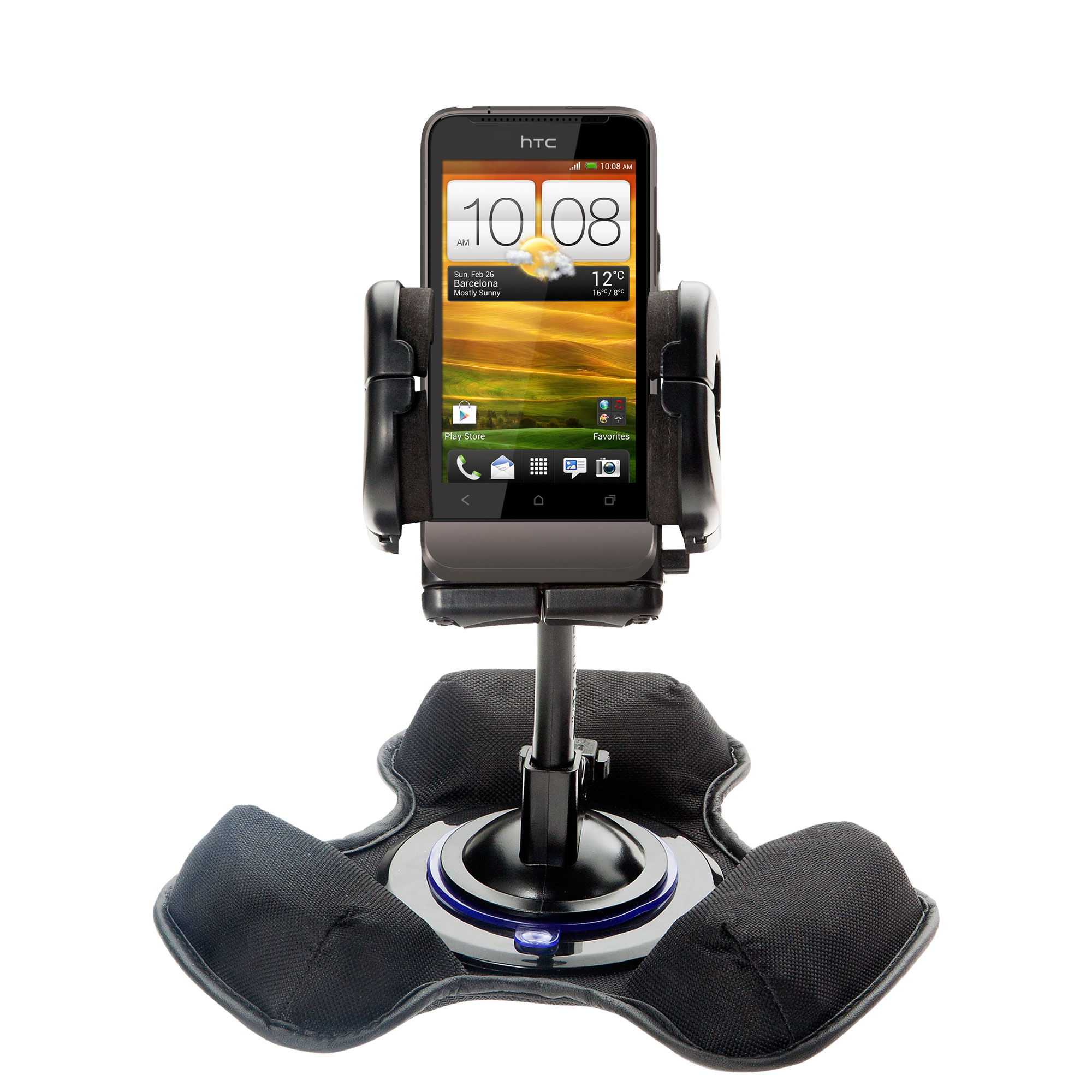 Dash and Windshield Holder compatible with the HTC Primo / T320e