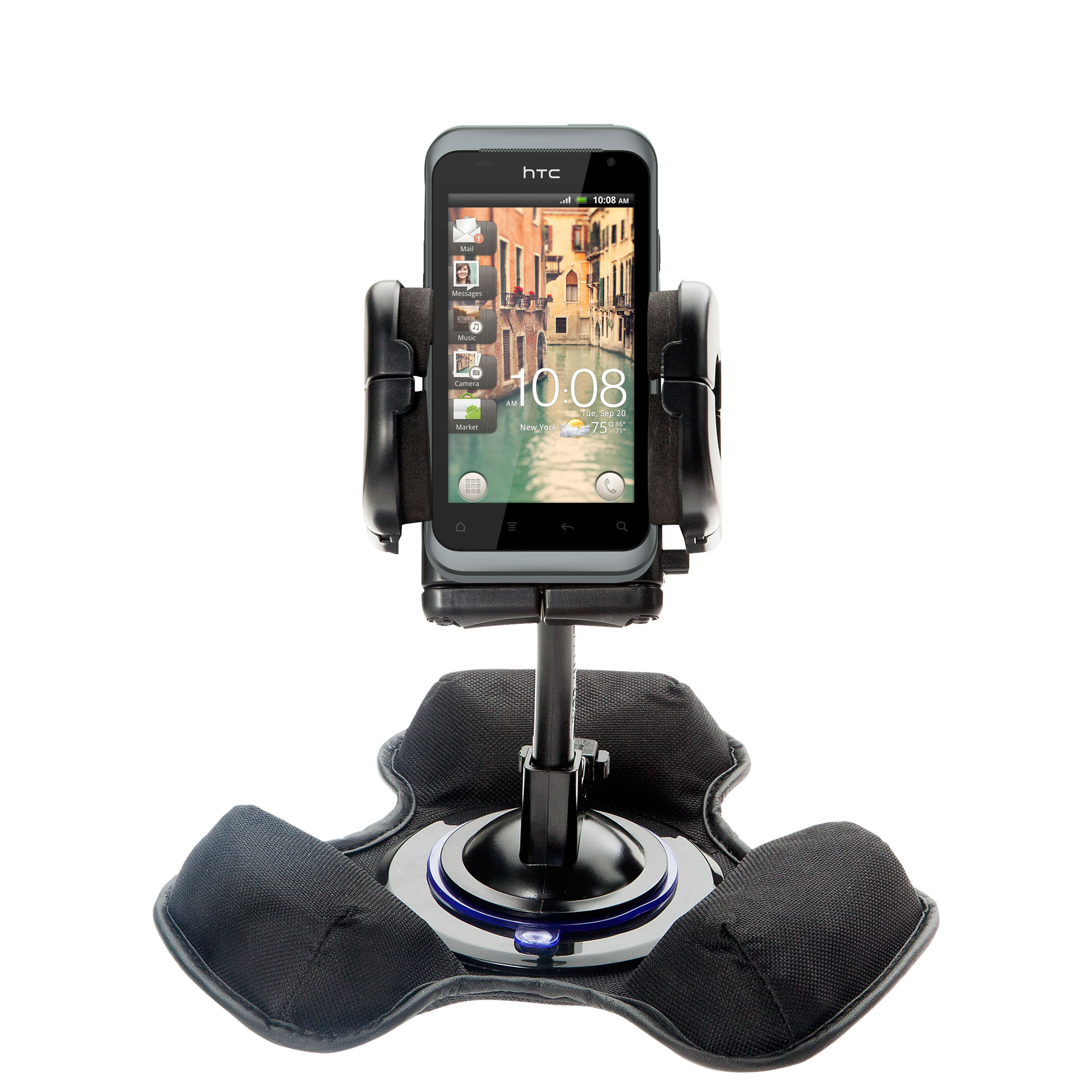Dash and Windshield Holder compatible with the HTC Rhyme