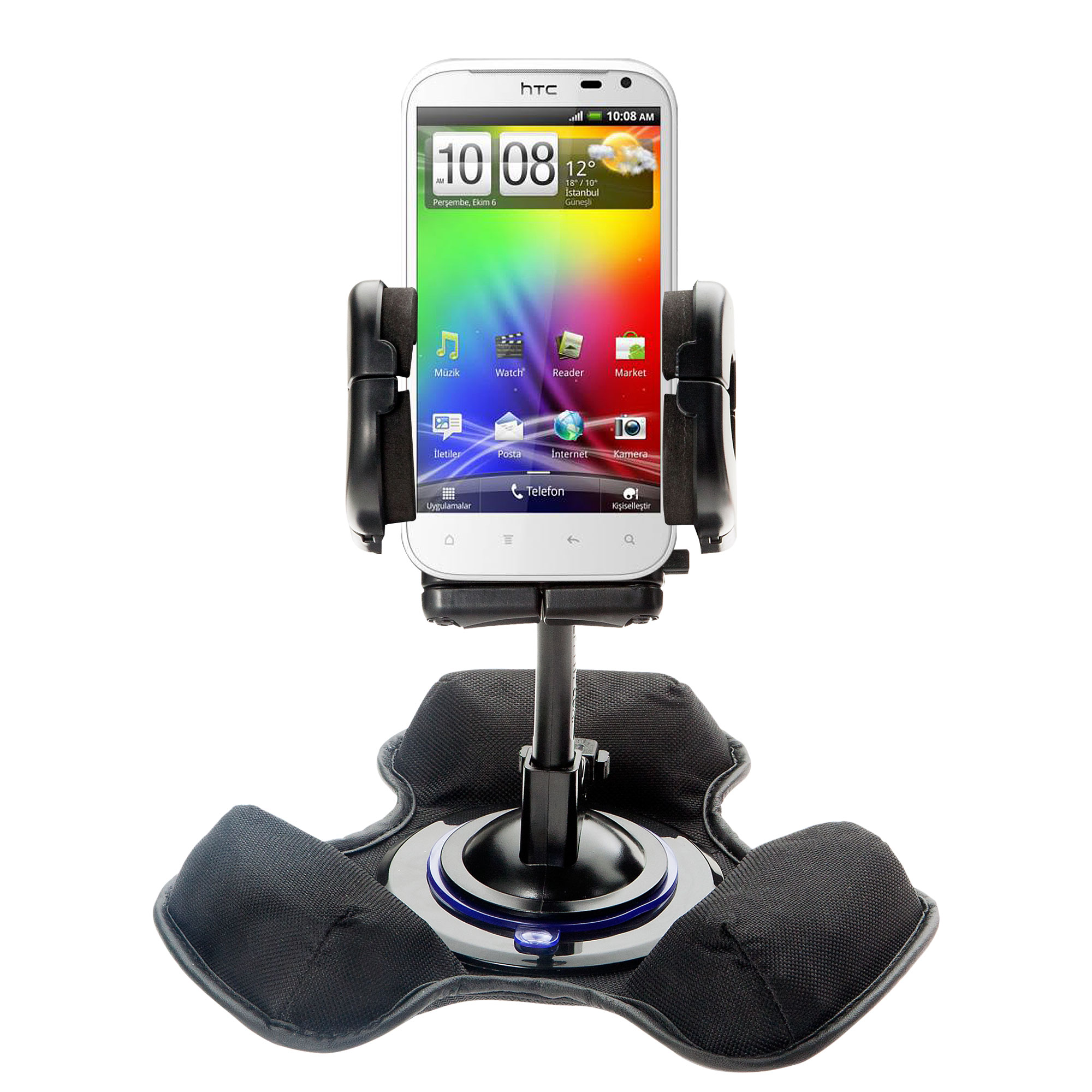Dash and Windshield Holder compatible with the HTC Runnymede