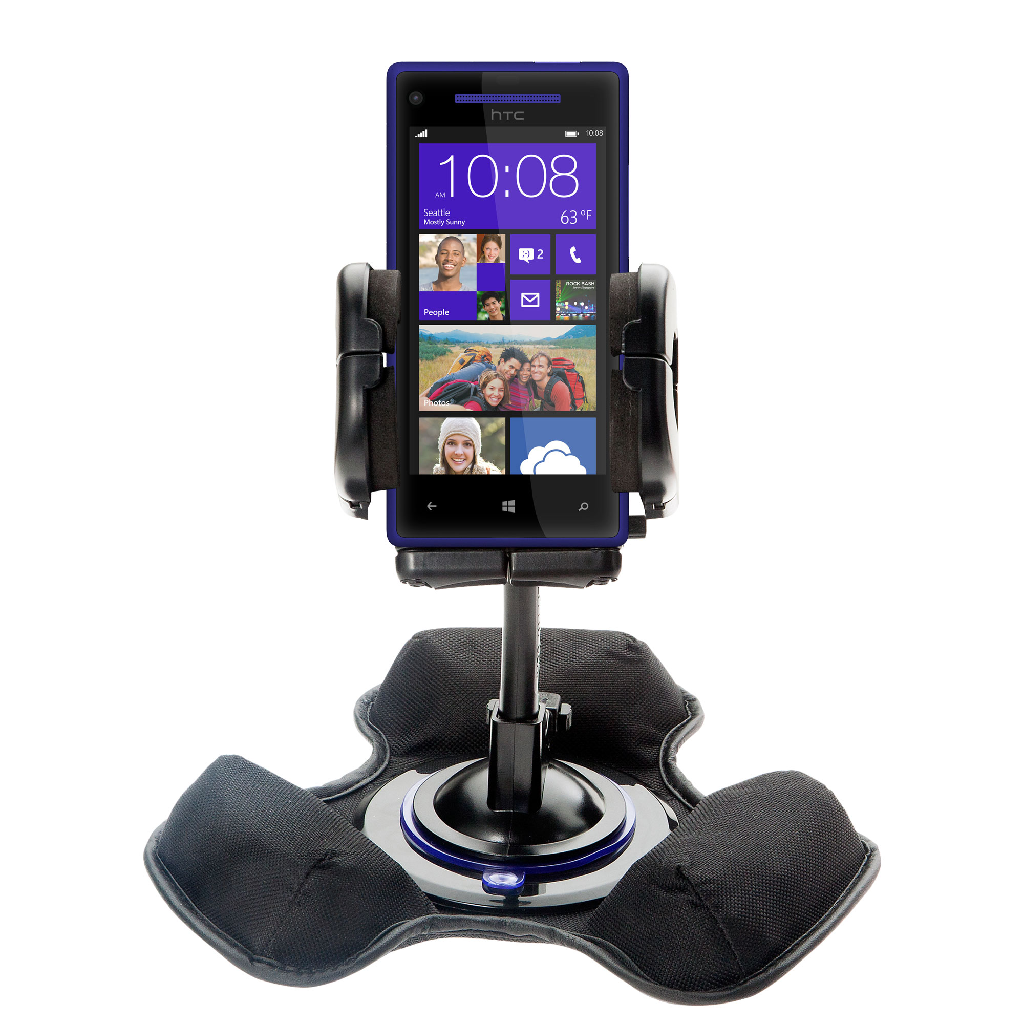 Dash and Windshield Holder compatible with the HTC Windows Phone 8x