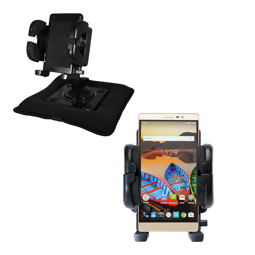 Dash and Windshield Holder compatible with the Lenovo PHAB 2 Pro