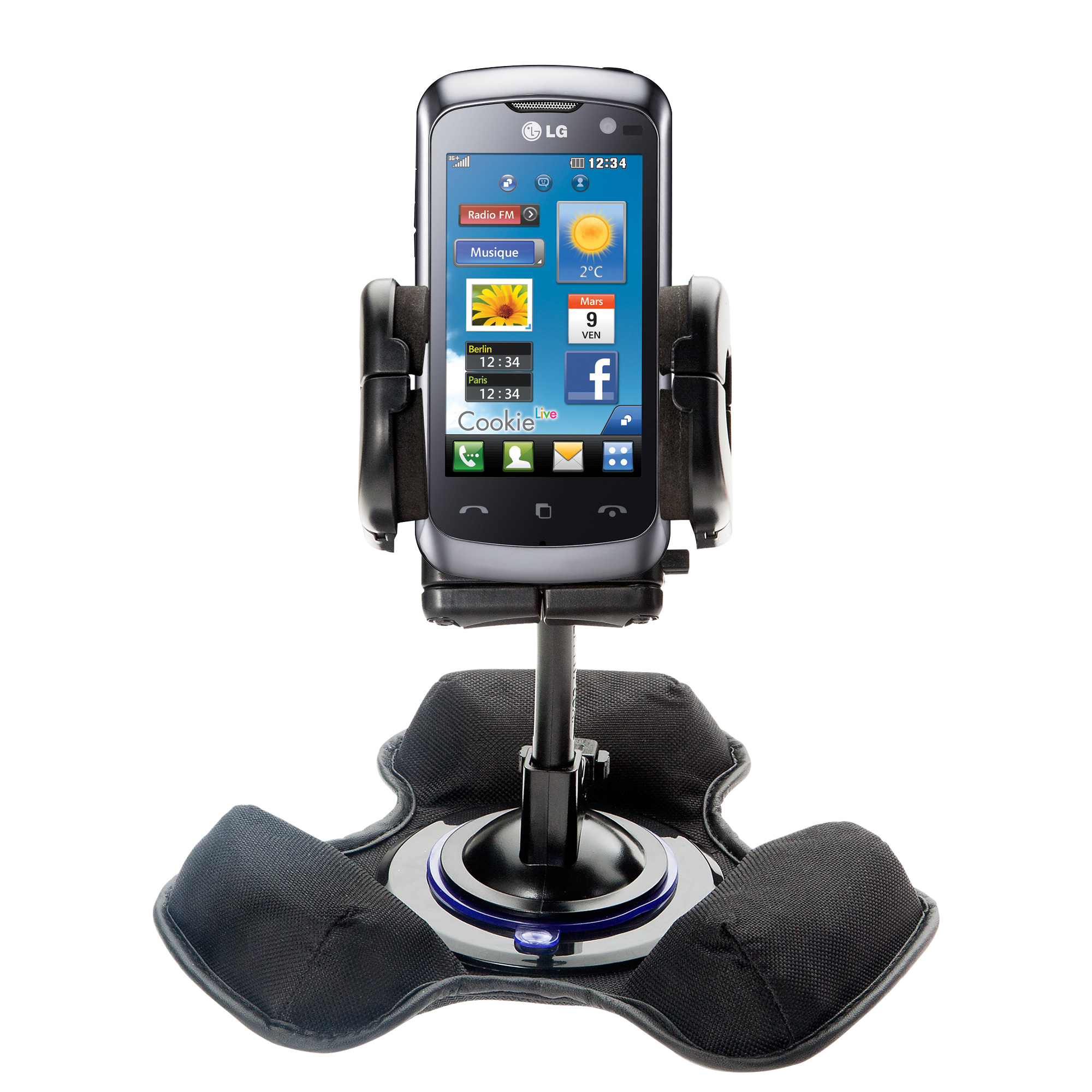 Dash and Windshield Holder compatible with the LG Cookie Live