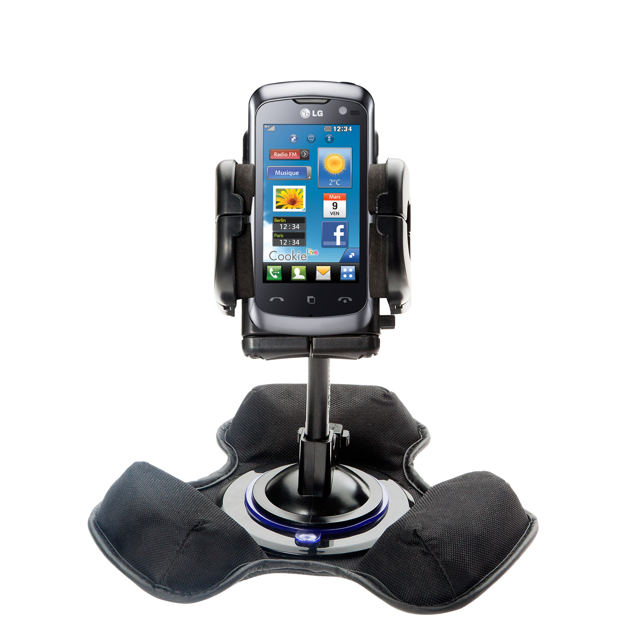 Dash and Windshield Holder compatible with the LG Cookie Music