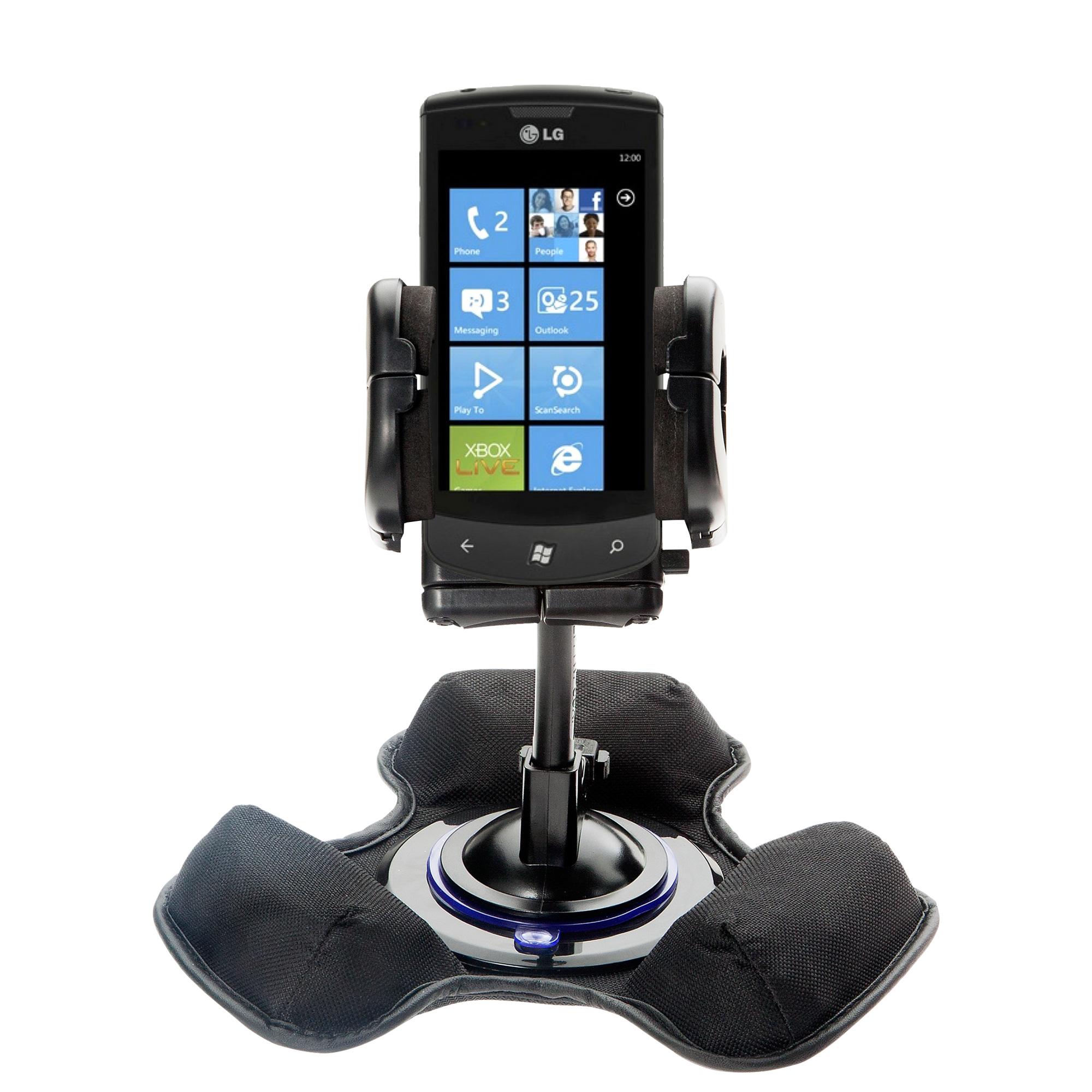 Dash and Windshield Holder compatible with the LG E900h