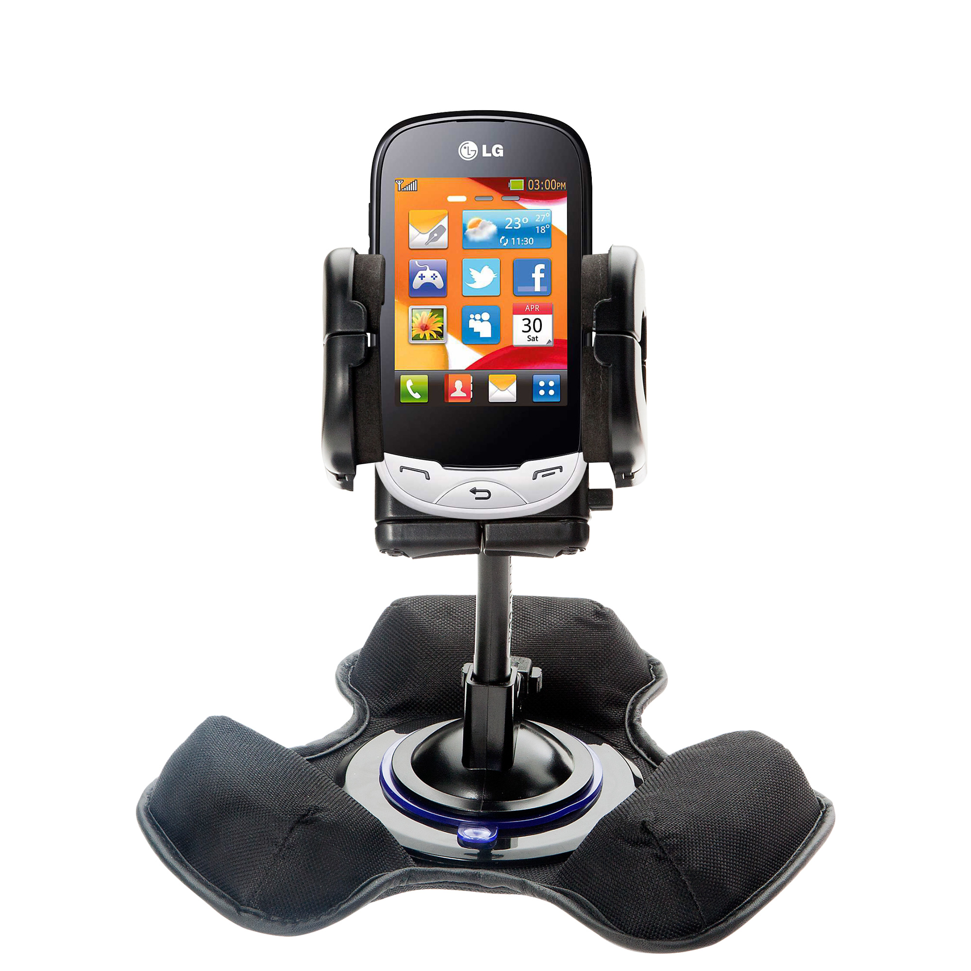Dash and Windshield Holder compatible with the LG EGO Wi-Fi
