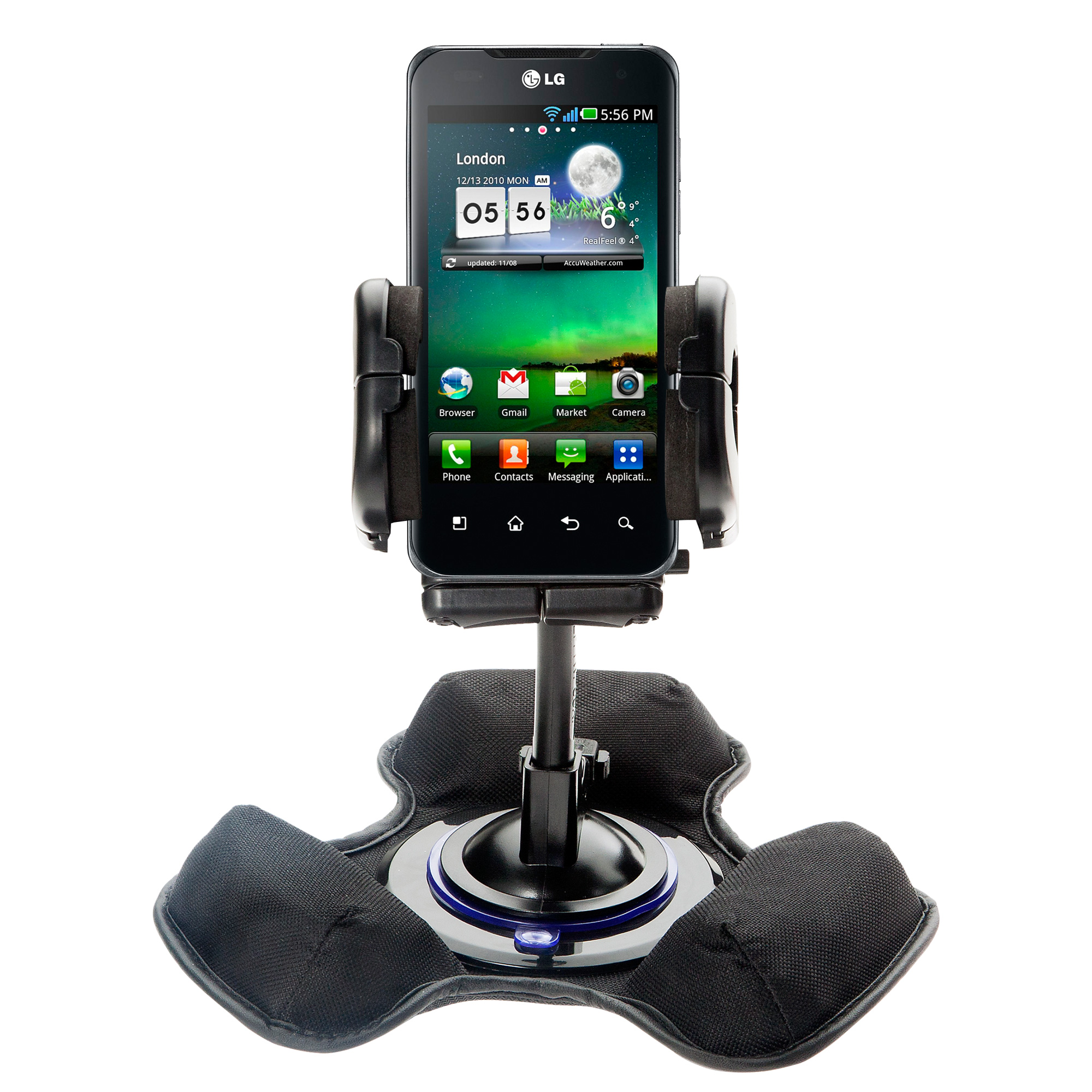 Dash and Windshield Holder compatible with the LG G2x