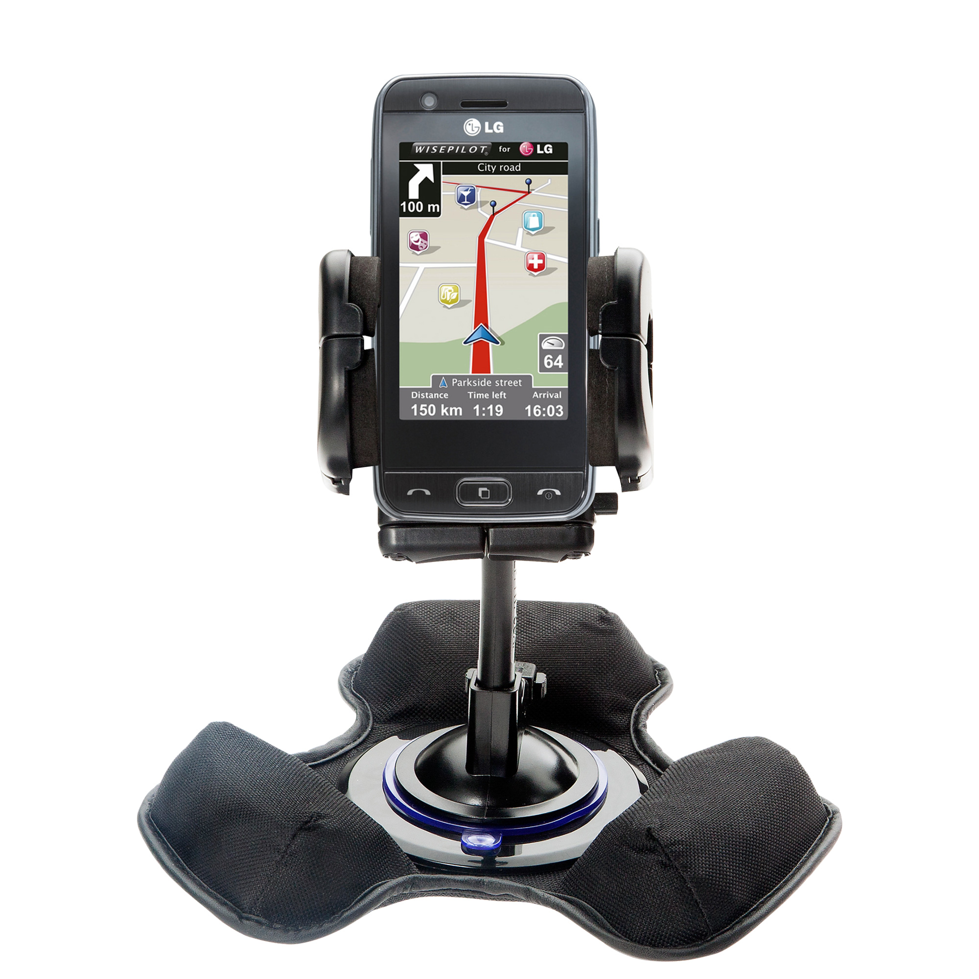 Dash and Windshield Holder compatible with the LG GT505