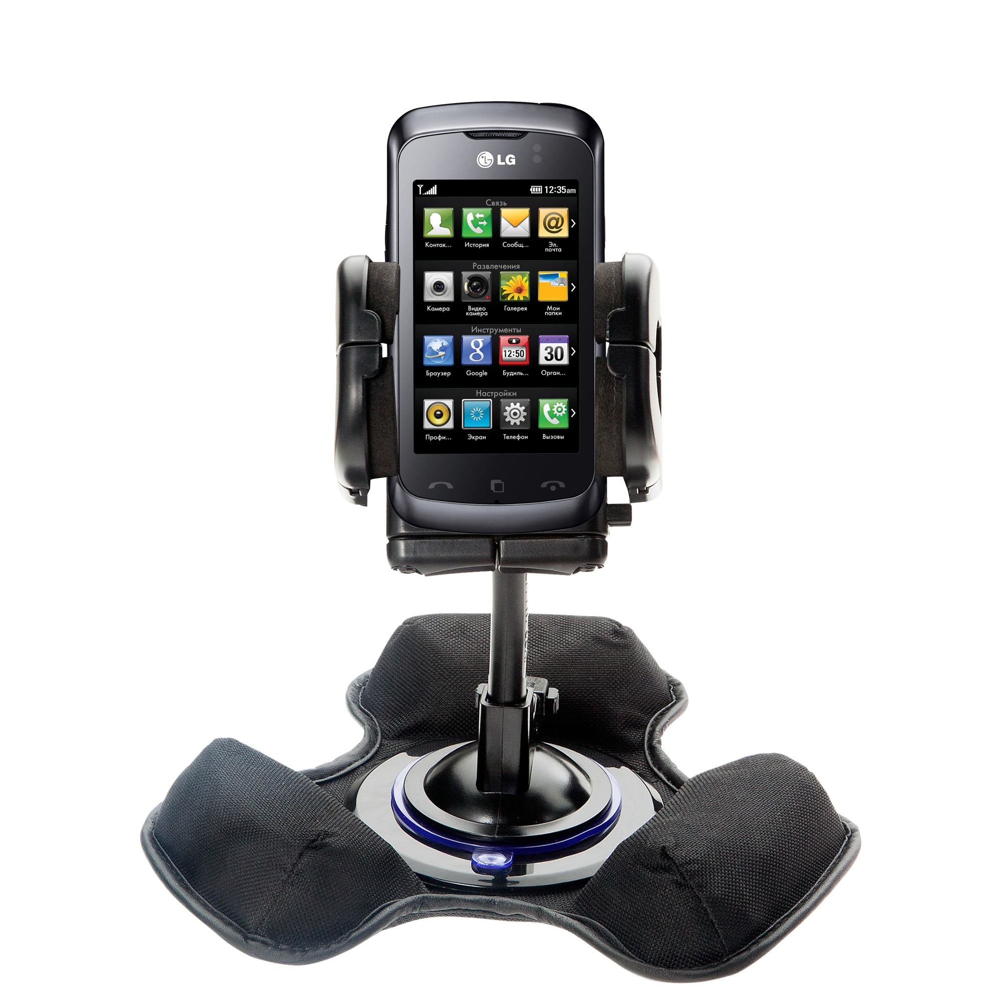 Dash and Windshield Holder compatible with the LG KM555E