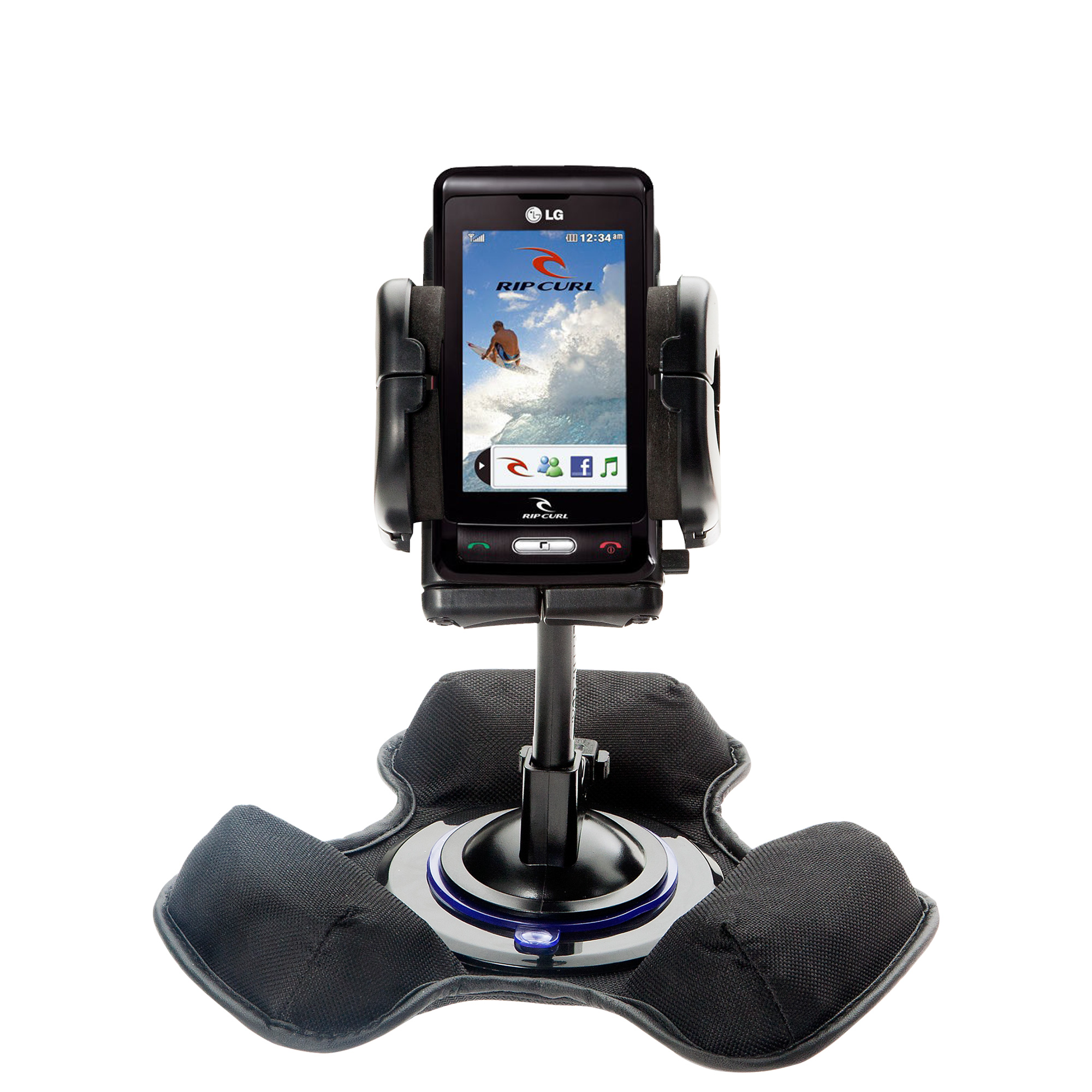 Dash and Windshield Holder compatible with the LG KP550 Rip Curl