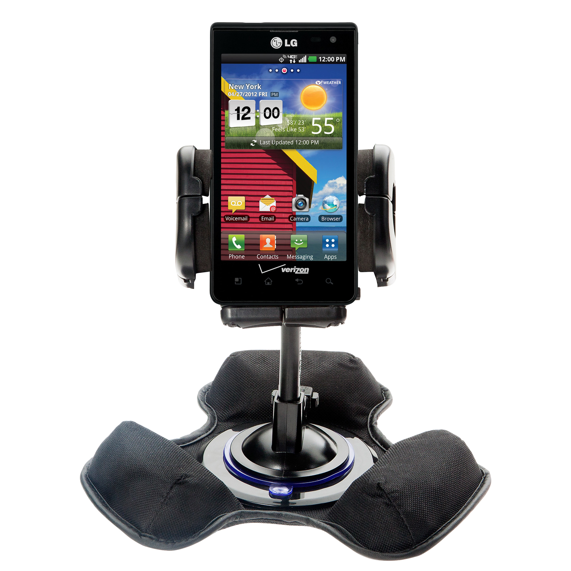 Dash and Windshield Holder compatible with the LG Lucid 1 / 2 / 3