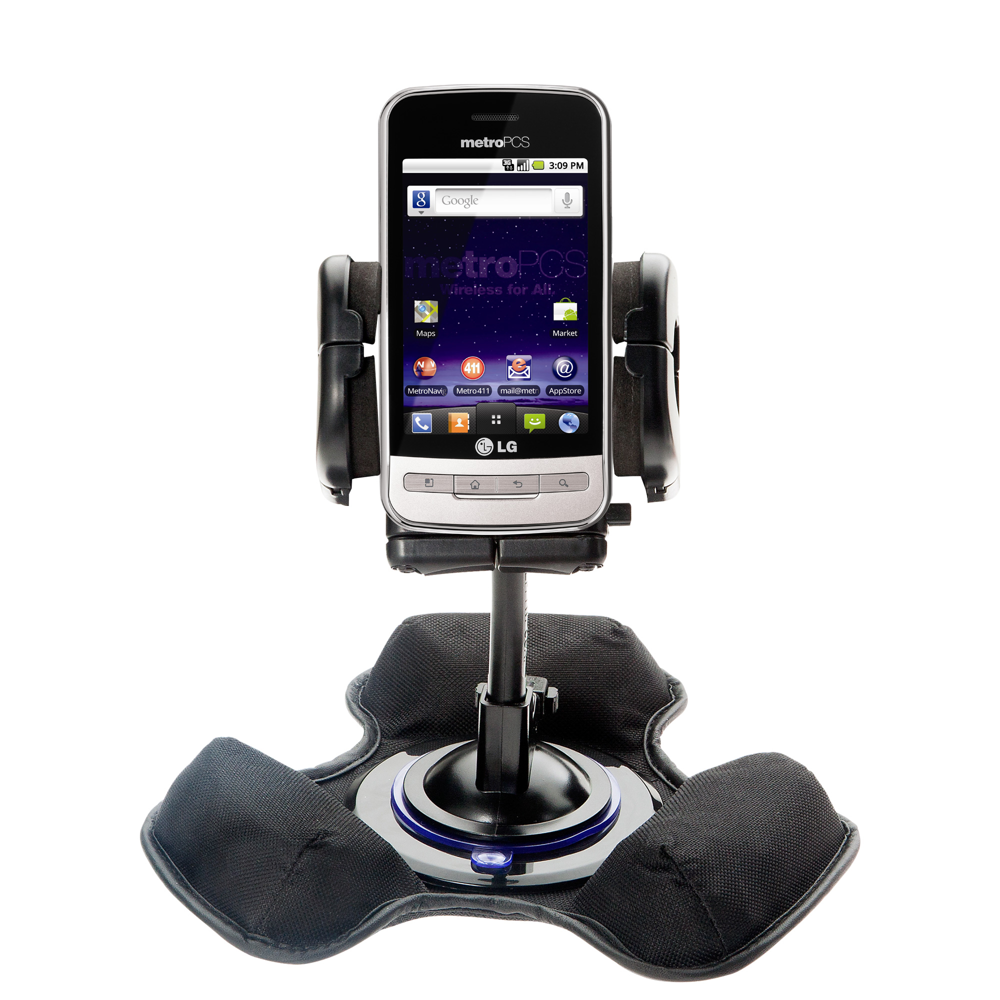 Dash and Windshield Holder compatible with the LG MS690