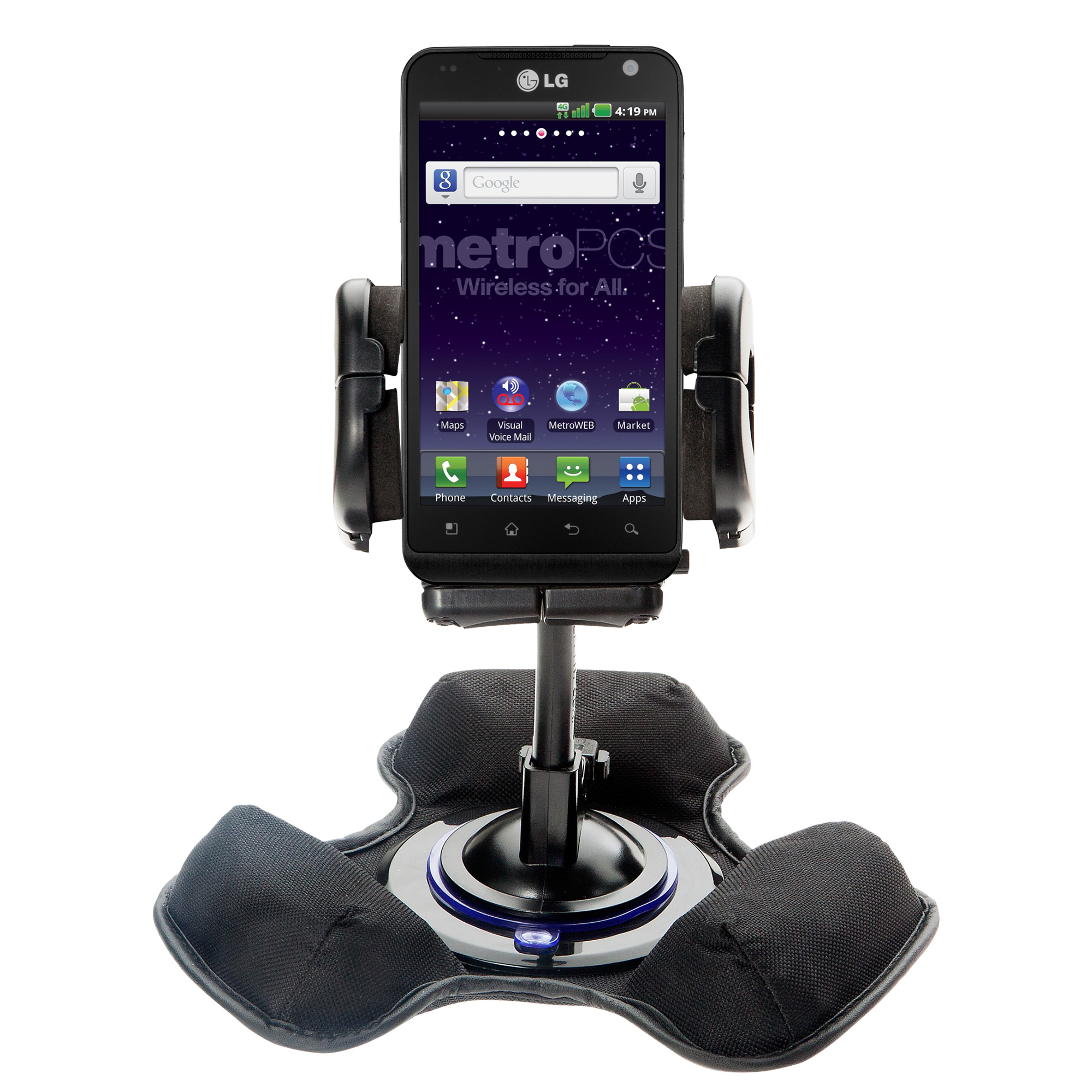 Dash and Windshield Holder compatible with the LG MS910