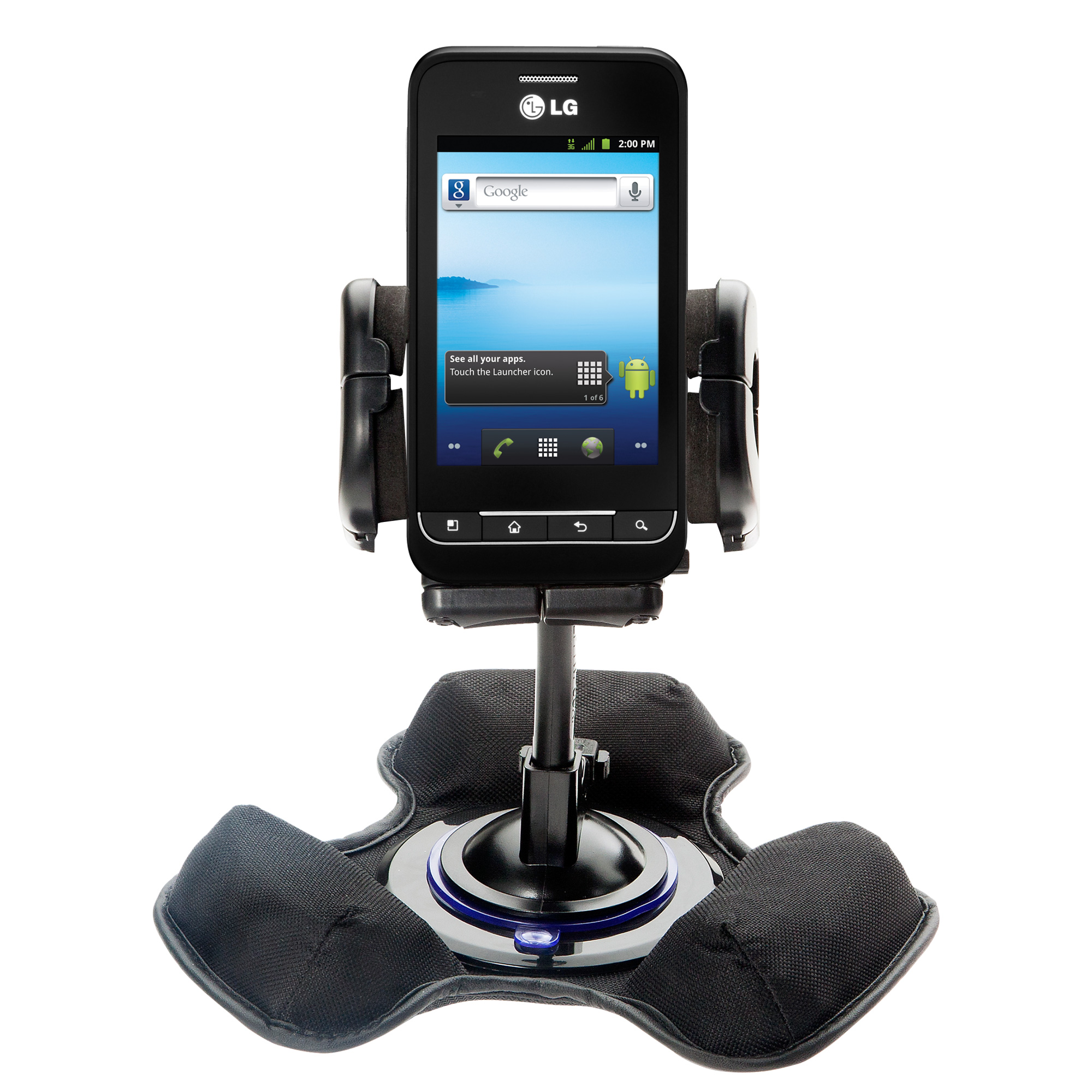 Dash and Windshield Holder compatible with the LG Optimus 2