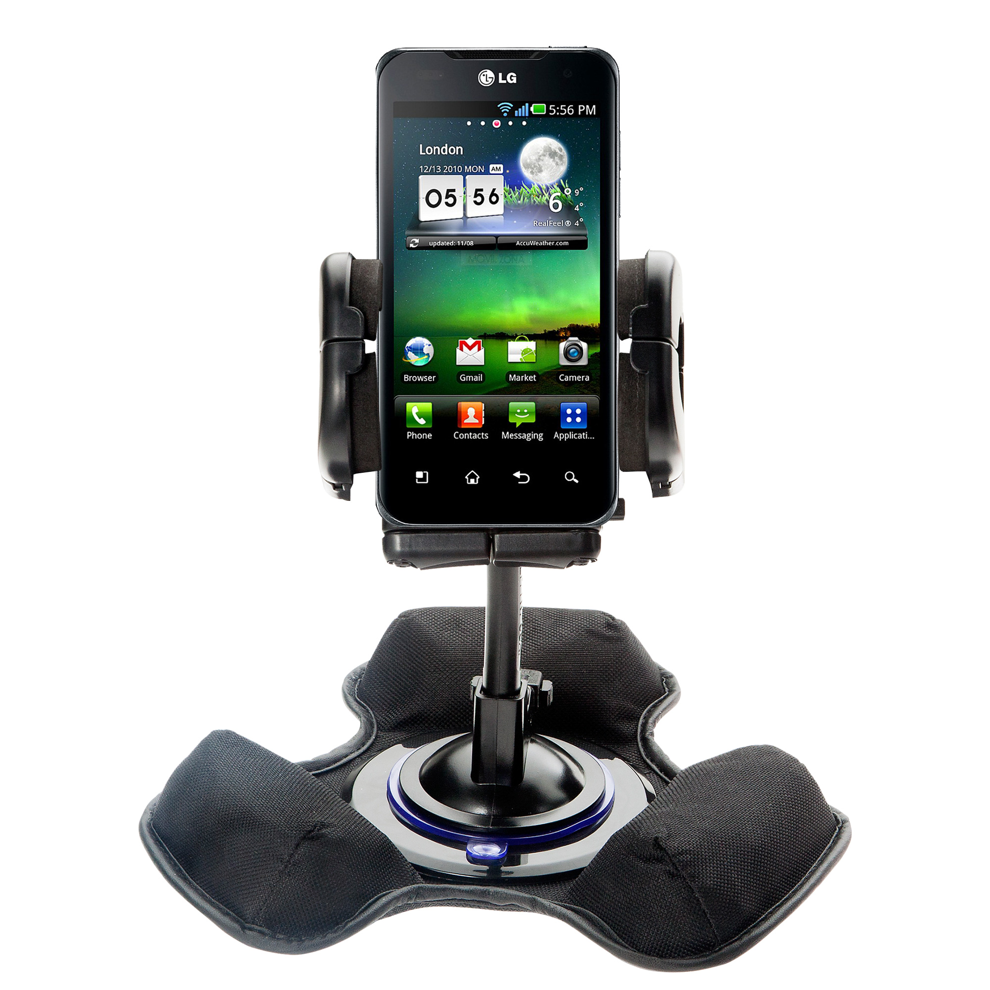 Dash and Windshield Holder compatible with the LG Optimus 2X