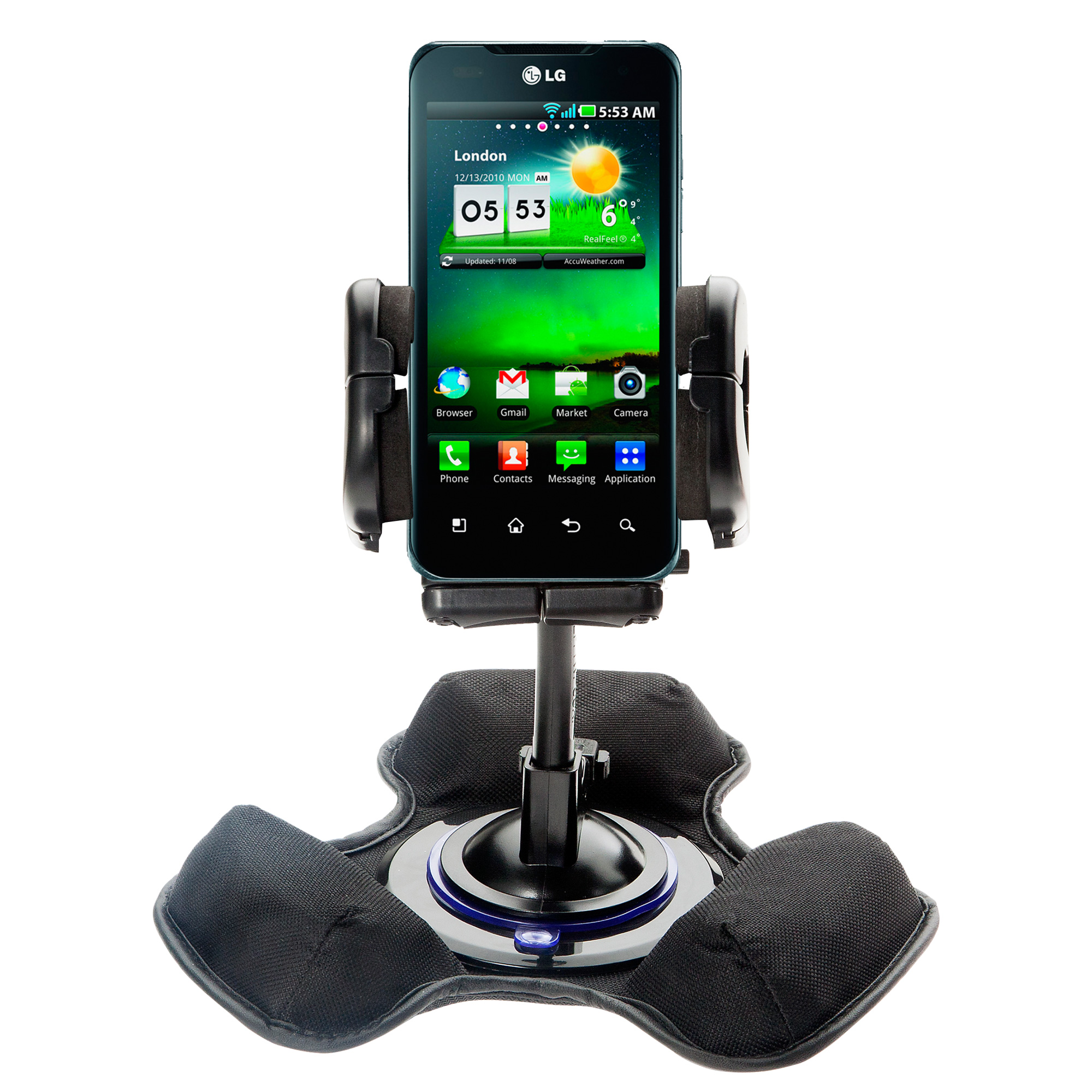 Dash and Windshield Holder compatible with the LG Optimus 3D Max