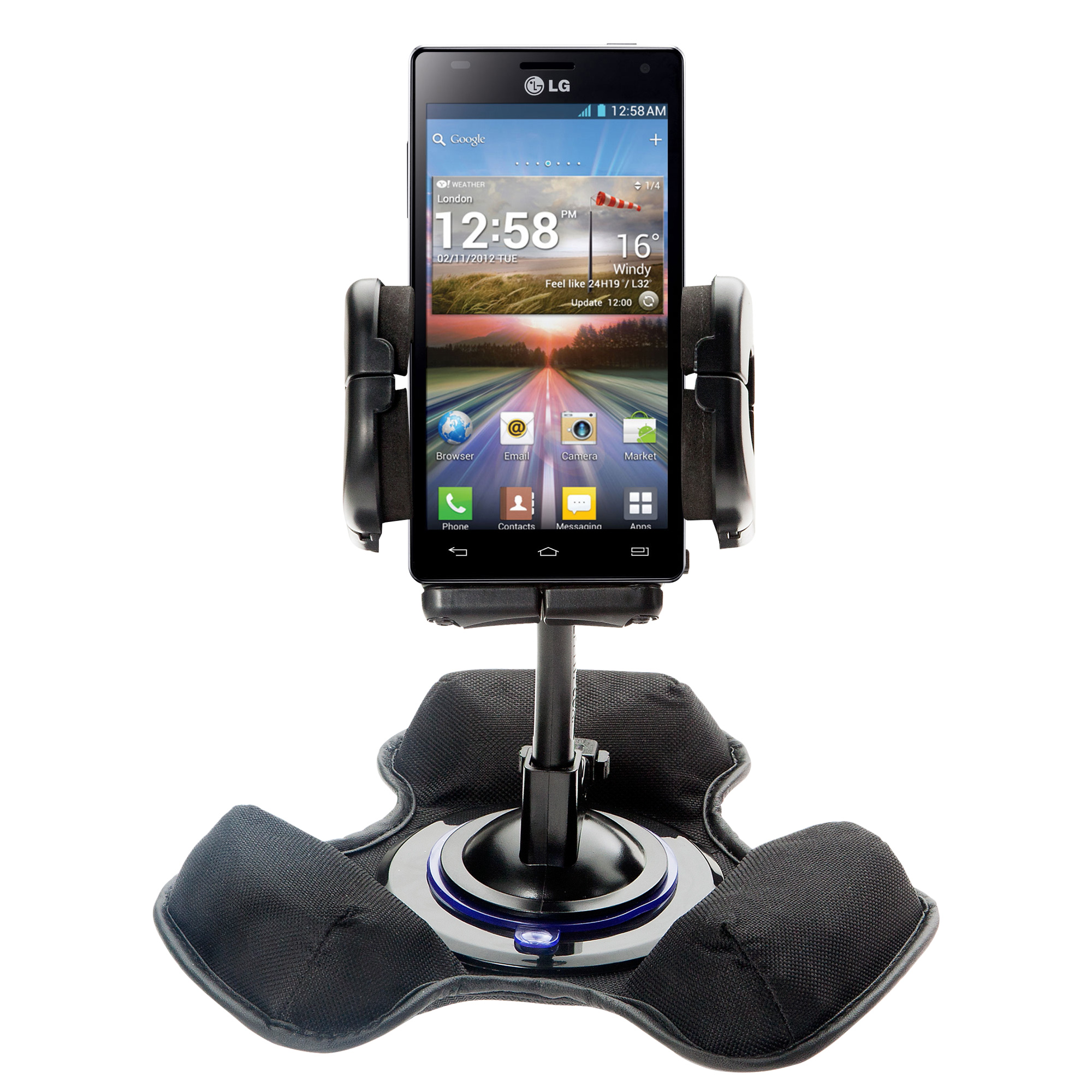 Dash and Windshield Holder compatible with the LG Optimus 4X HD