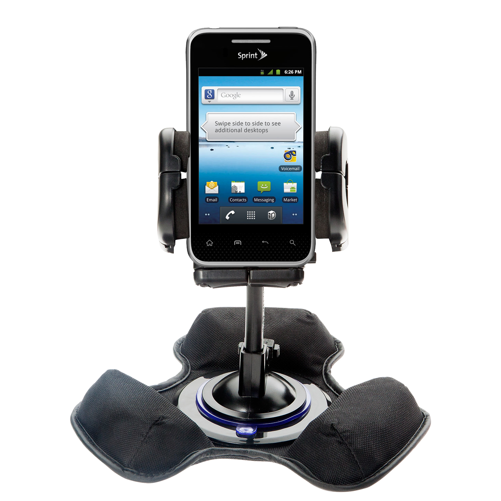 Dash and Windshield Holder compatible with the LG Optimus Elite