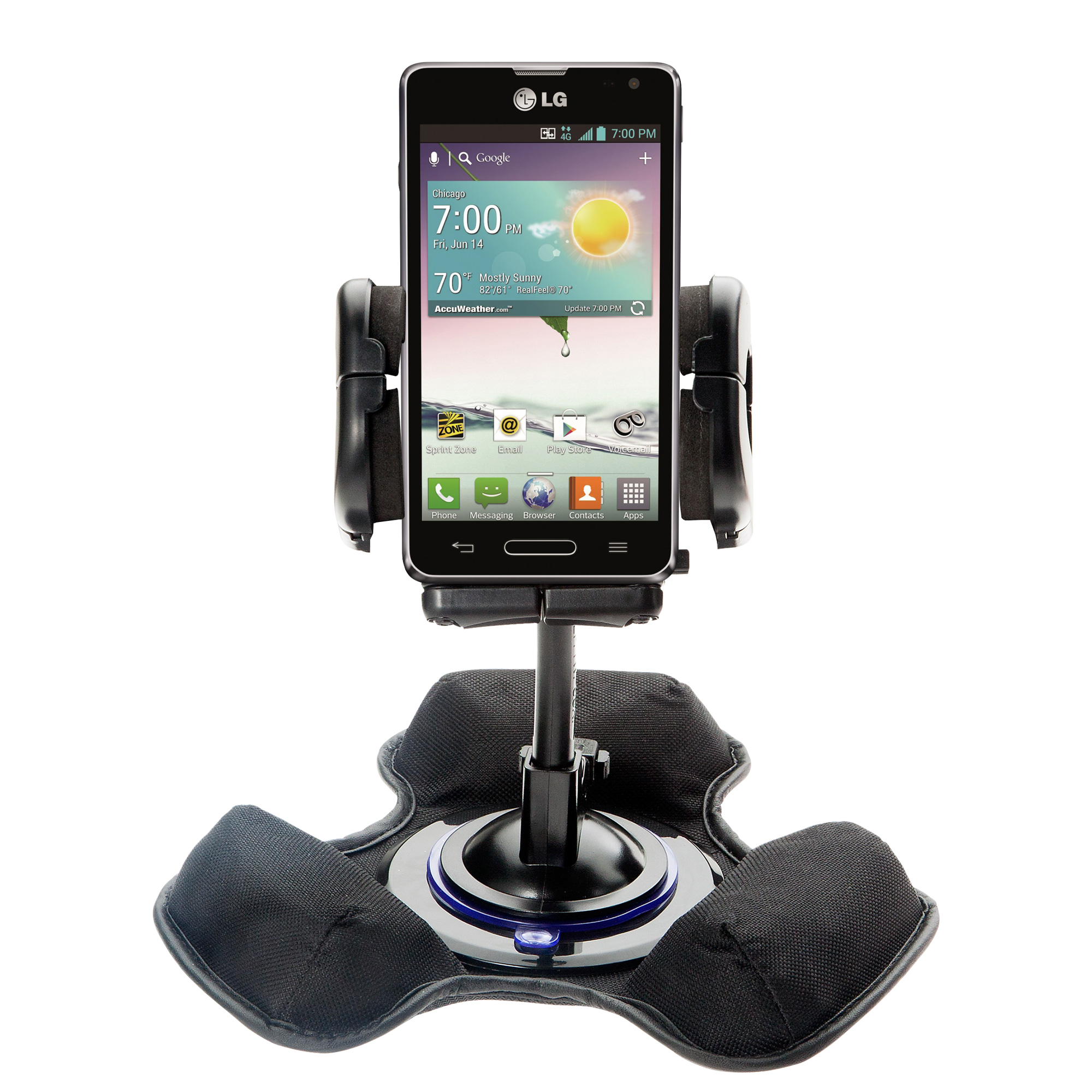 Dash and Windshield Holder compatible with the LG Optimus F3