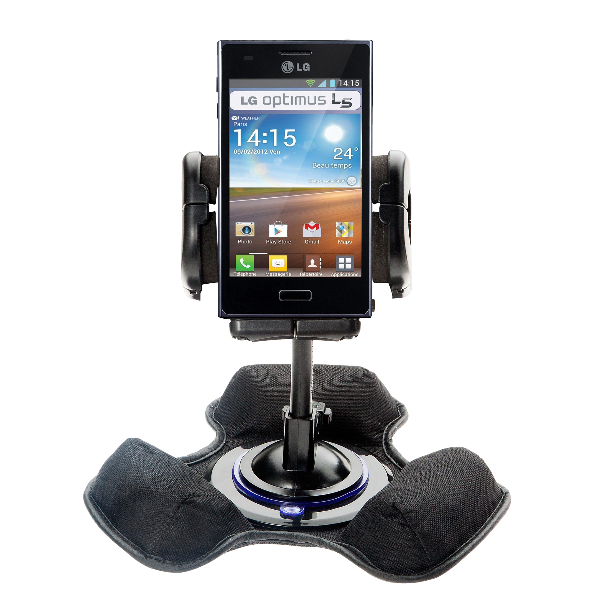 Dash and Windshield Holder compatible with the LG Optimus L5