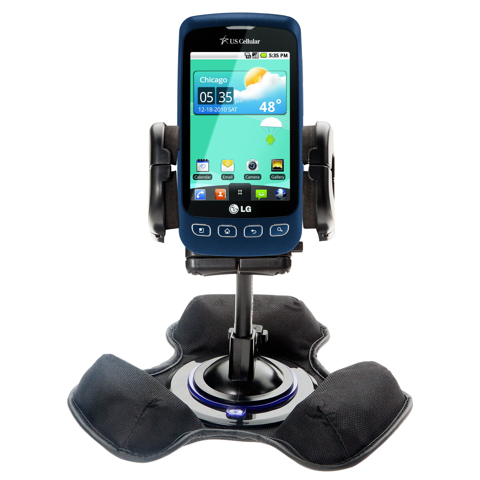 Dash and Windshield Holder compatible with the LG Optimus S