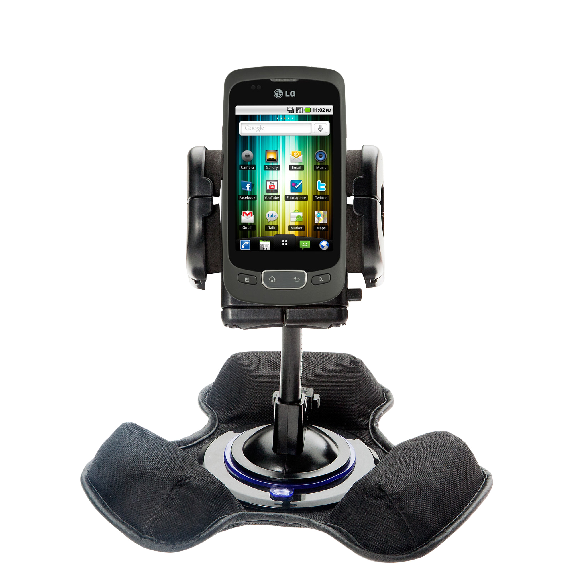 Dash and Windshield Holder compatible with the LG Optimus T
