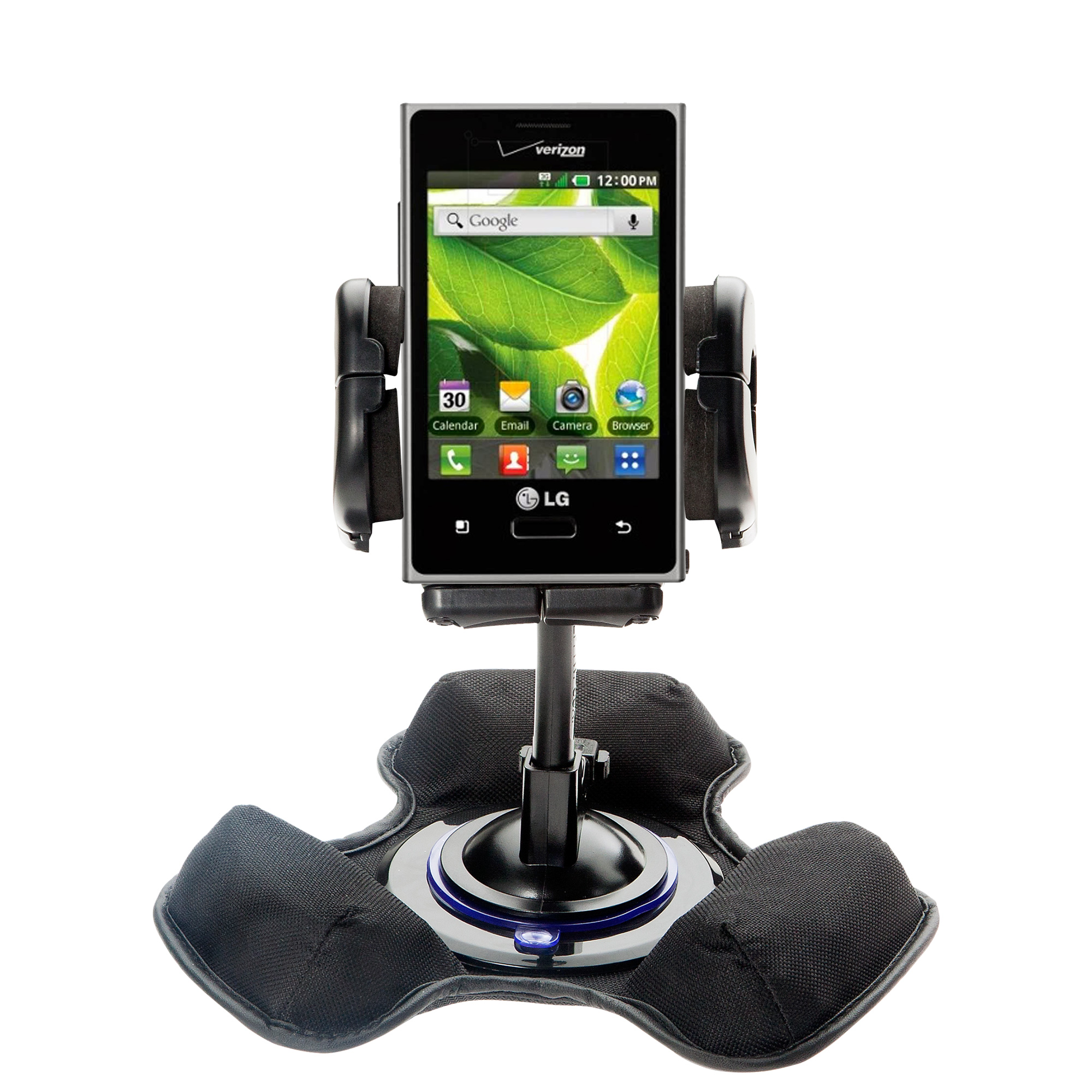 Dash and Windshield Holder compatible with the LG Optimus Zone 1 / 2