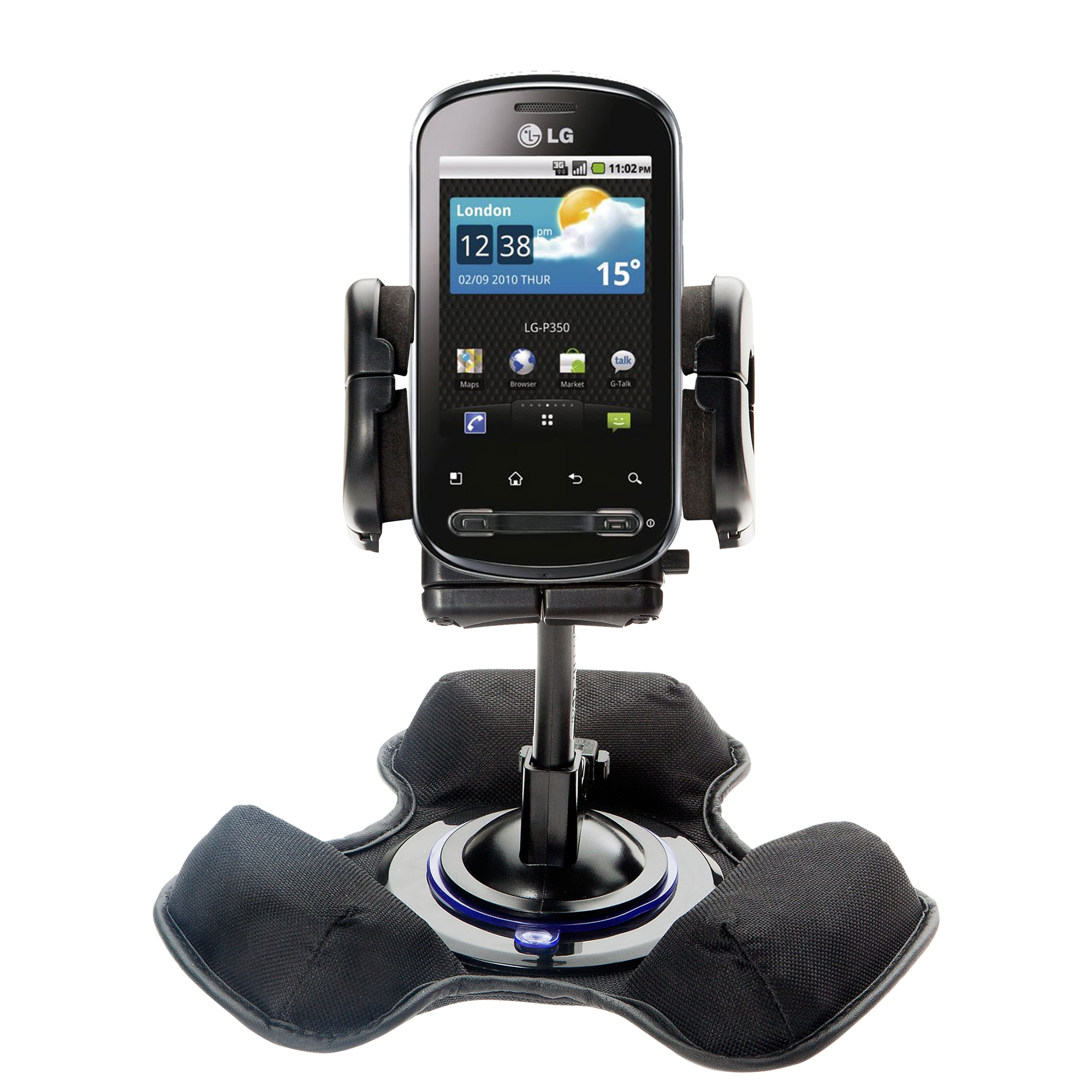 Dash and Windshield Holder compatible with the LG Pecan