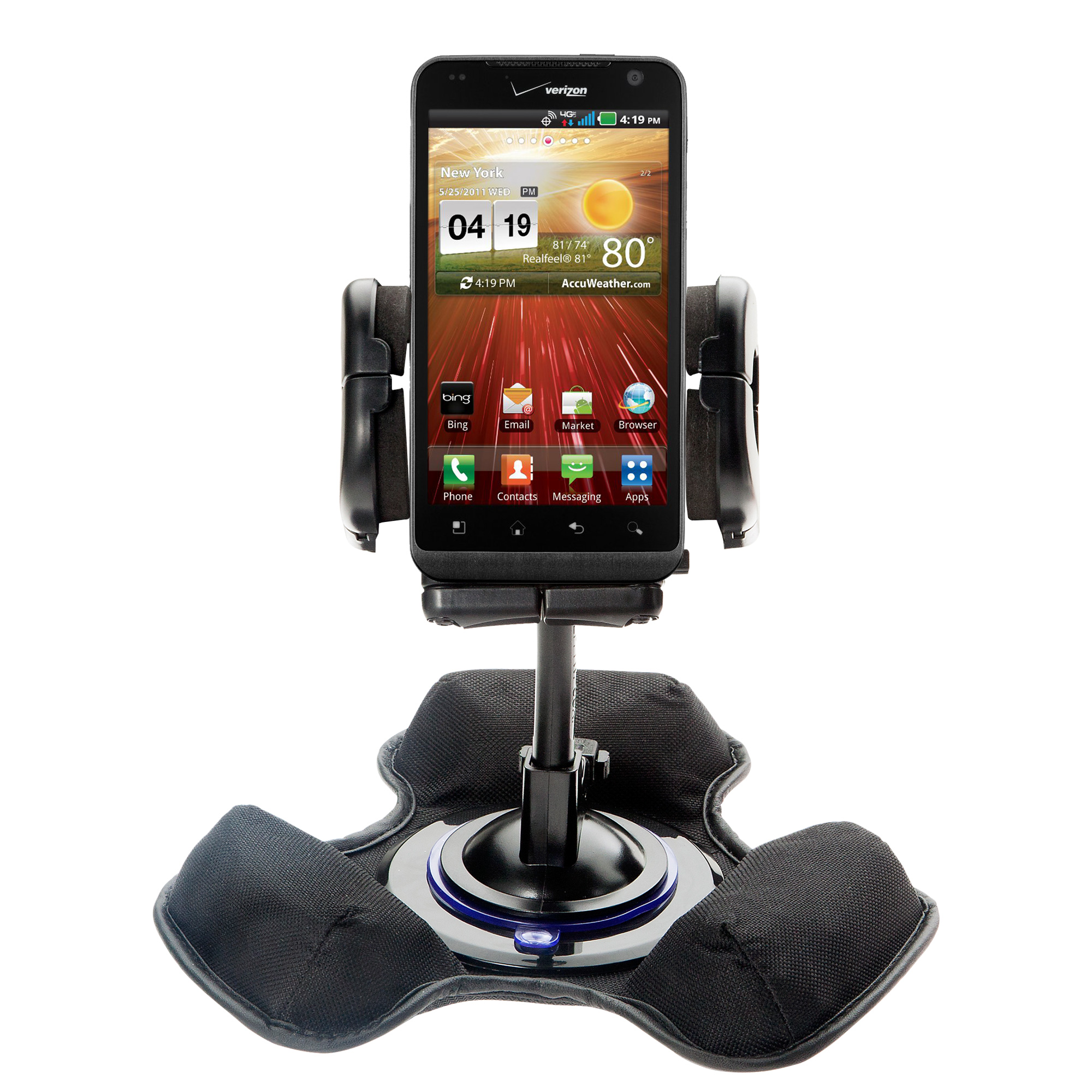 Dash and Windshield Holder compatible with the LG Revolution