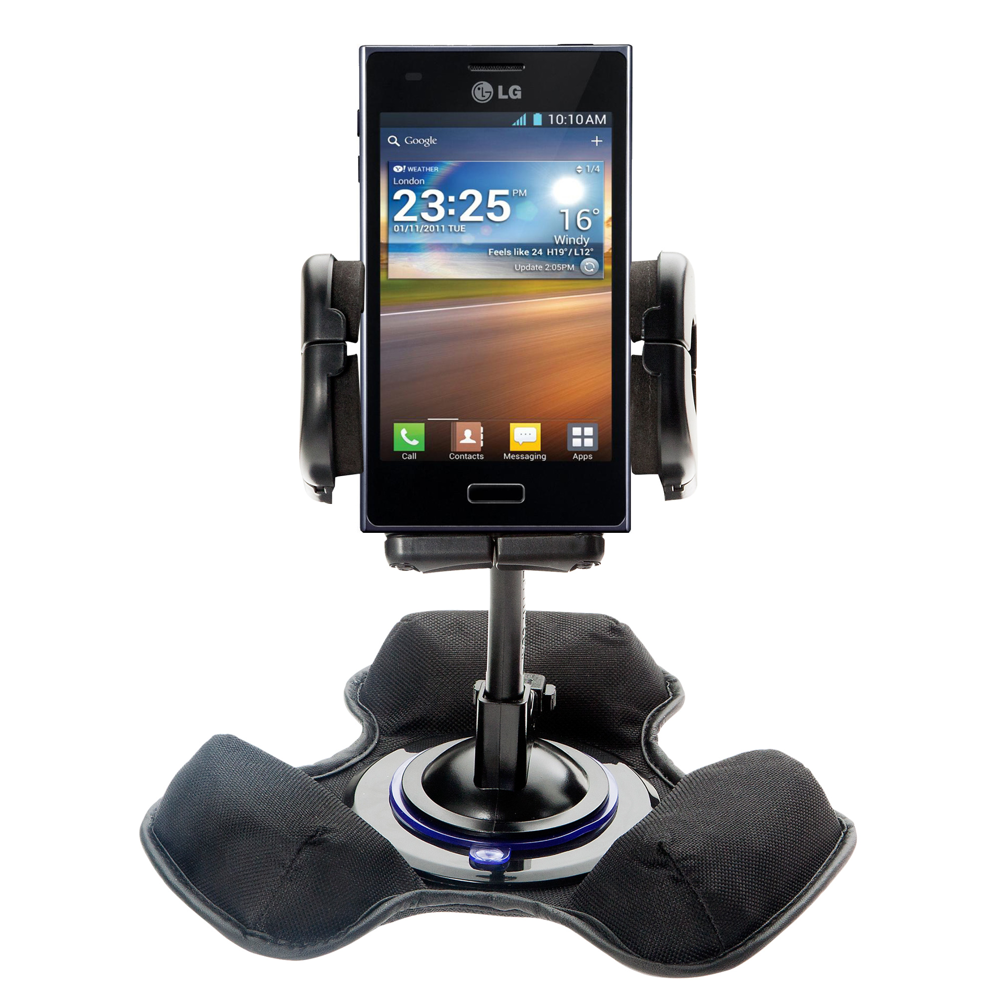 Dash and Windshield Holder compatible with the LG Splendor
