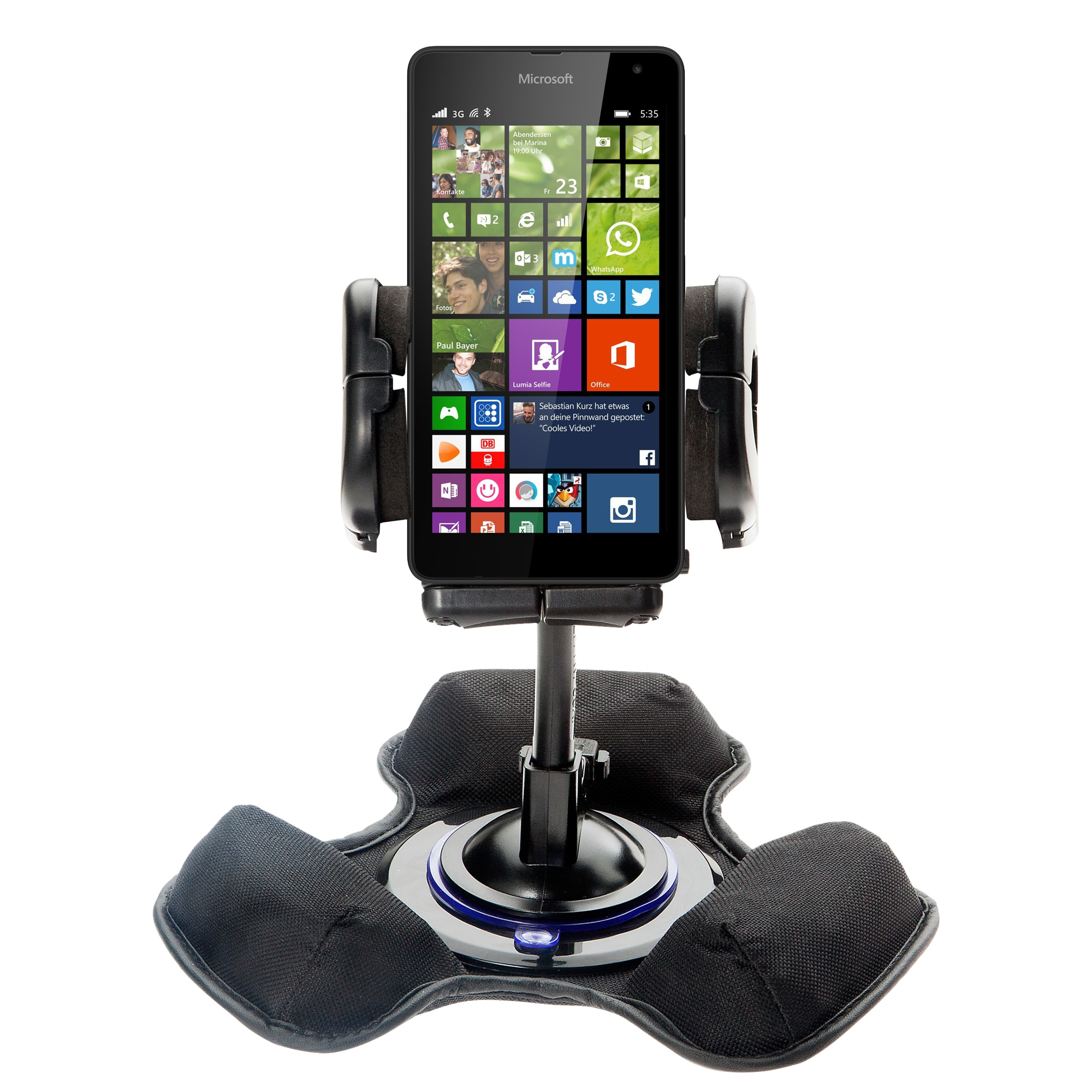 Dash and Windshield Holder compatible with the Microsoft Lumia 535